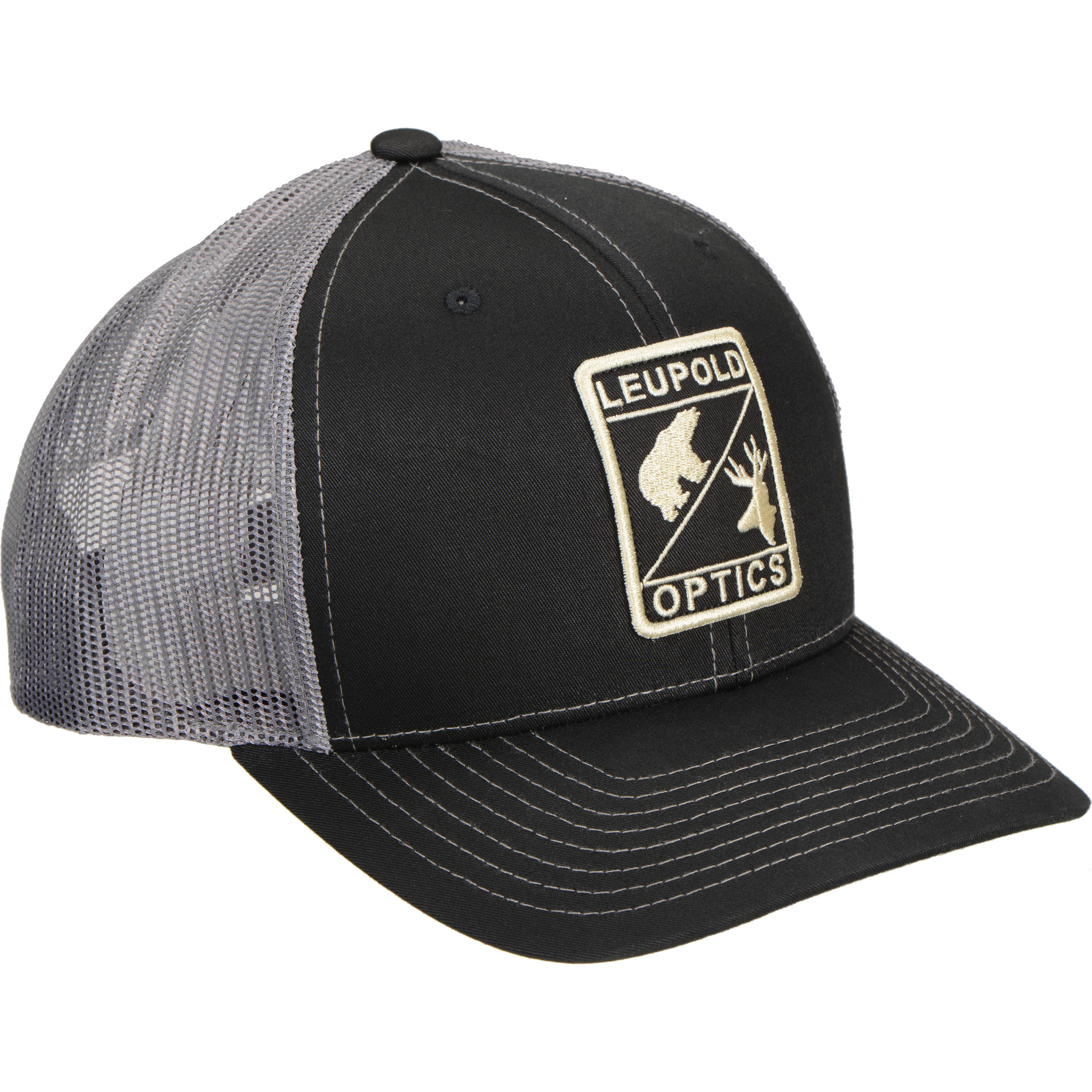 4a314ce8460 Leupold L Optic Trucker Hat (Black Charcoal