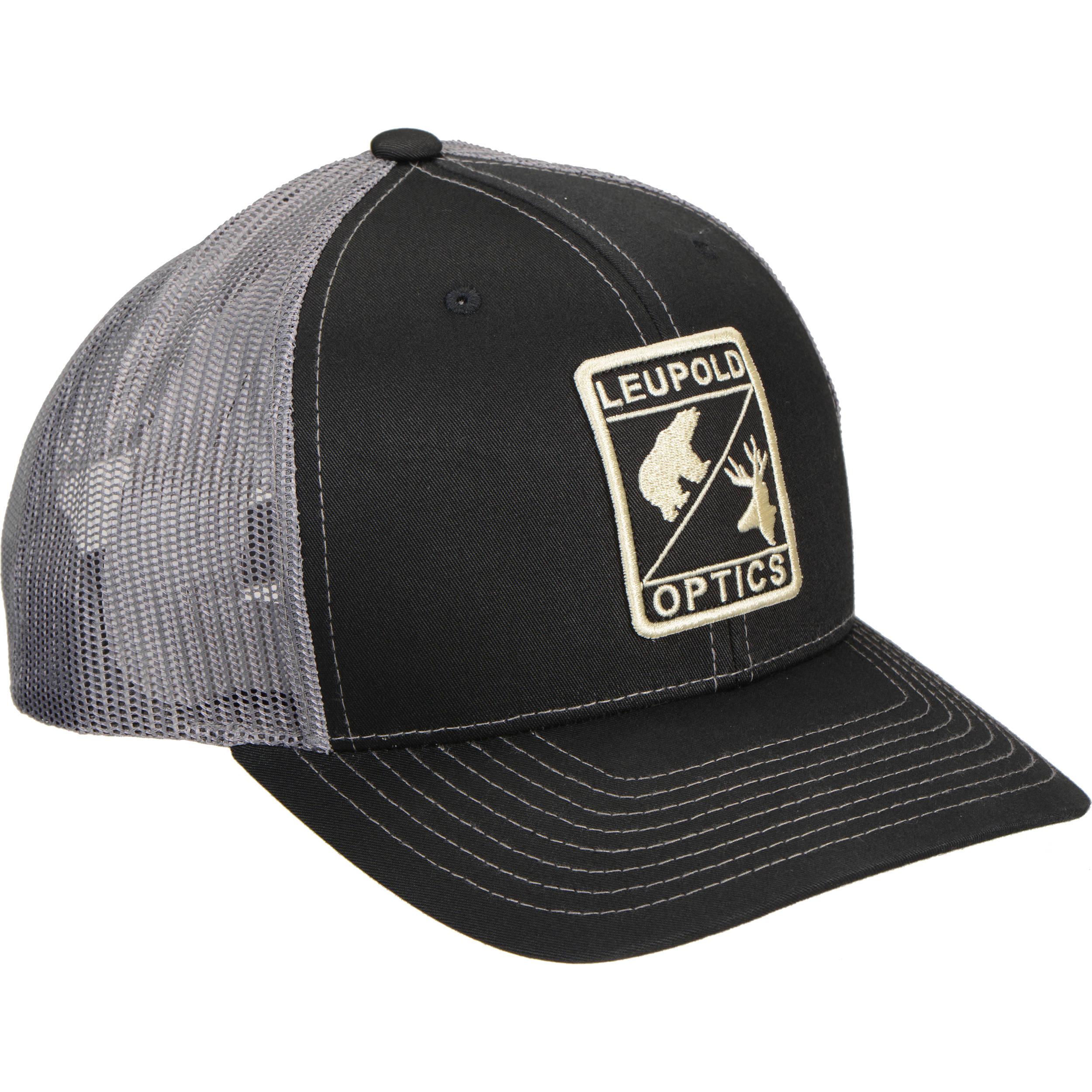 Leupold L Optic Trucker Hat (Black Charcoal 500c2f19134