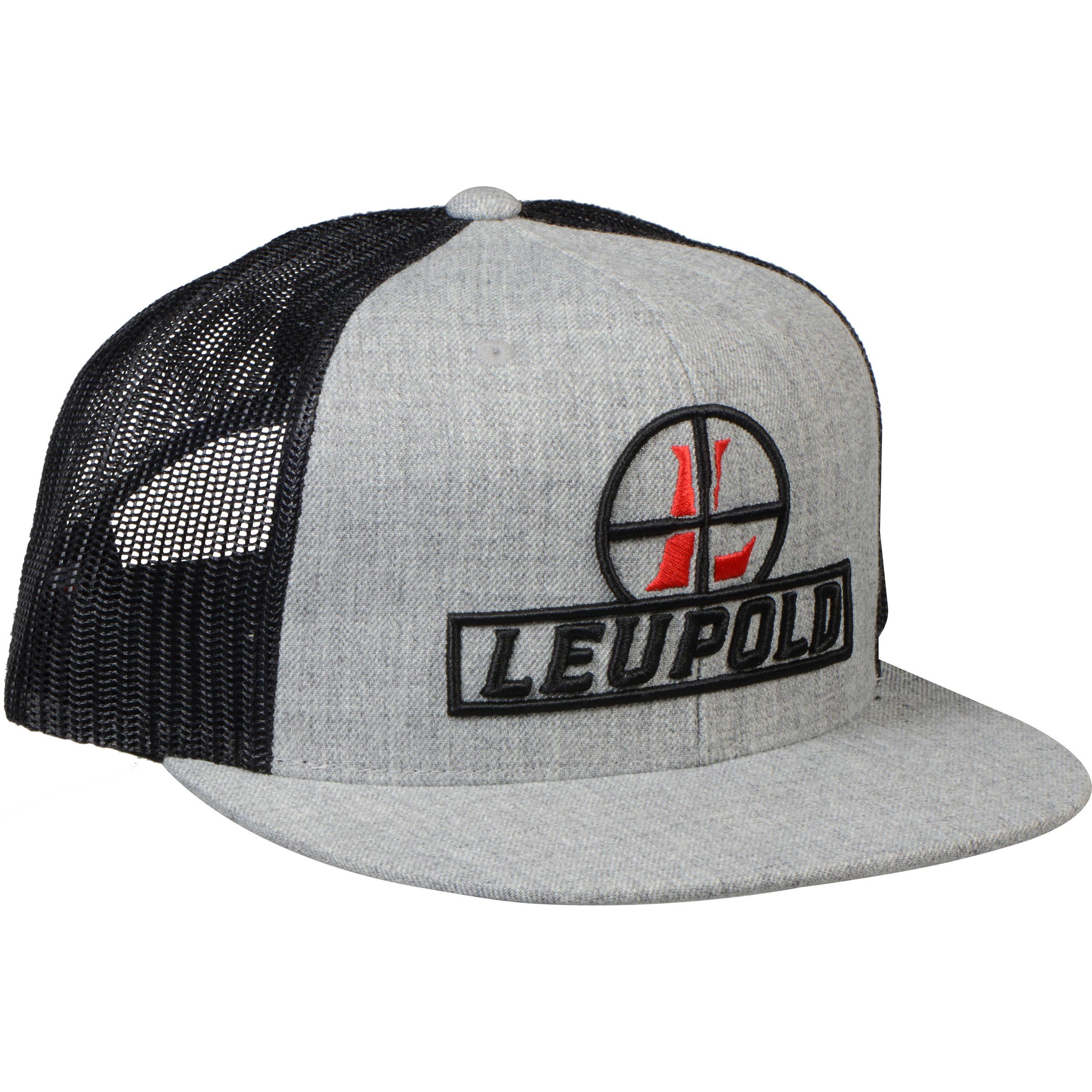 a3e2f71a219 Leupold Reticle Flat Brim Trucker Hat (Black) 170584 B H Photo