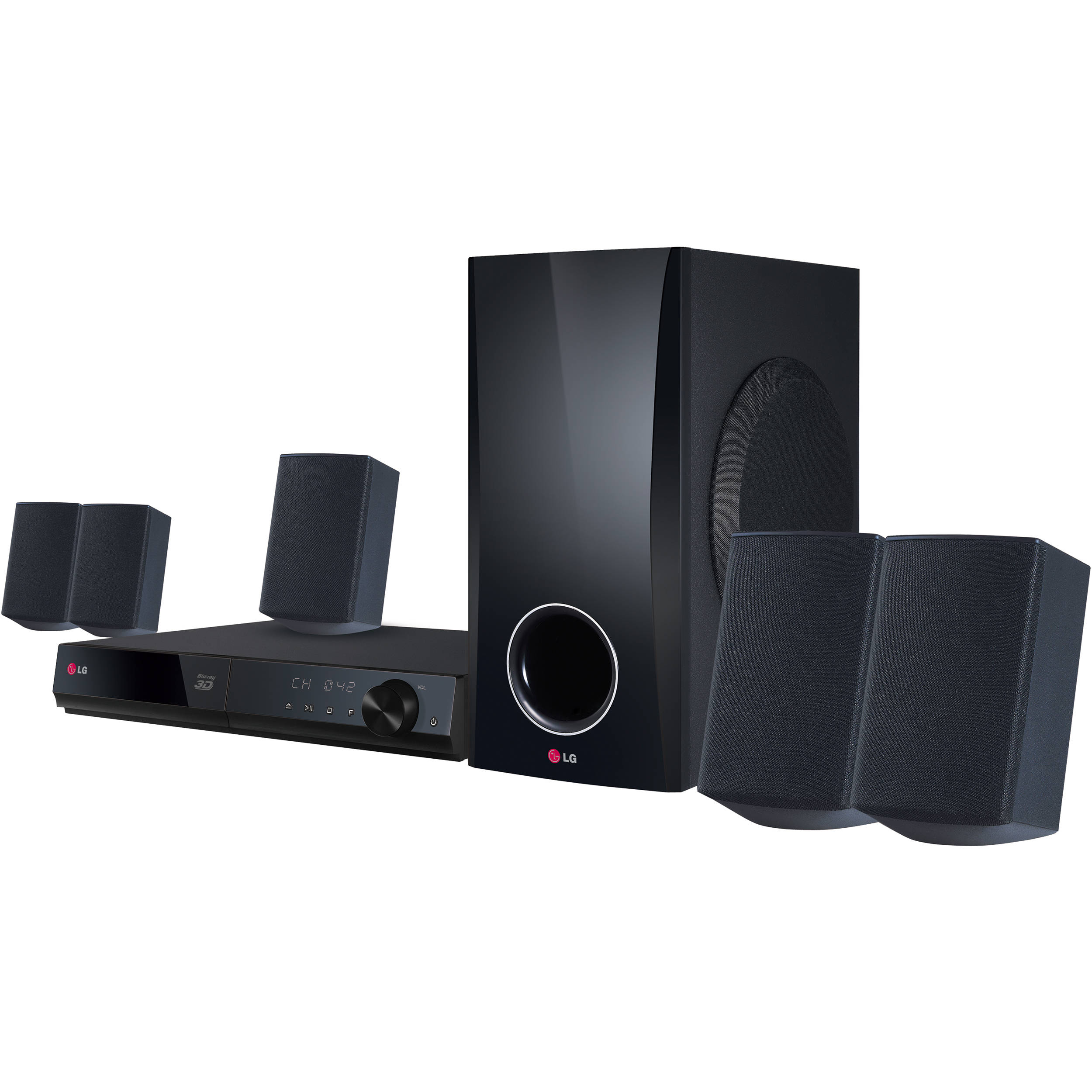 LG 5.1-Channel 500W 3D Smart Blu-ray Home Theater System
