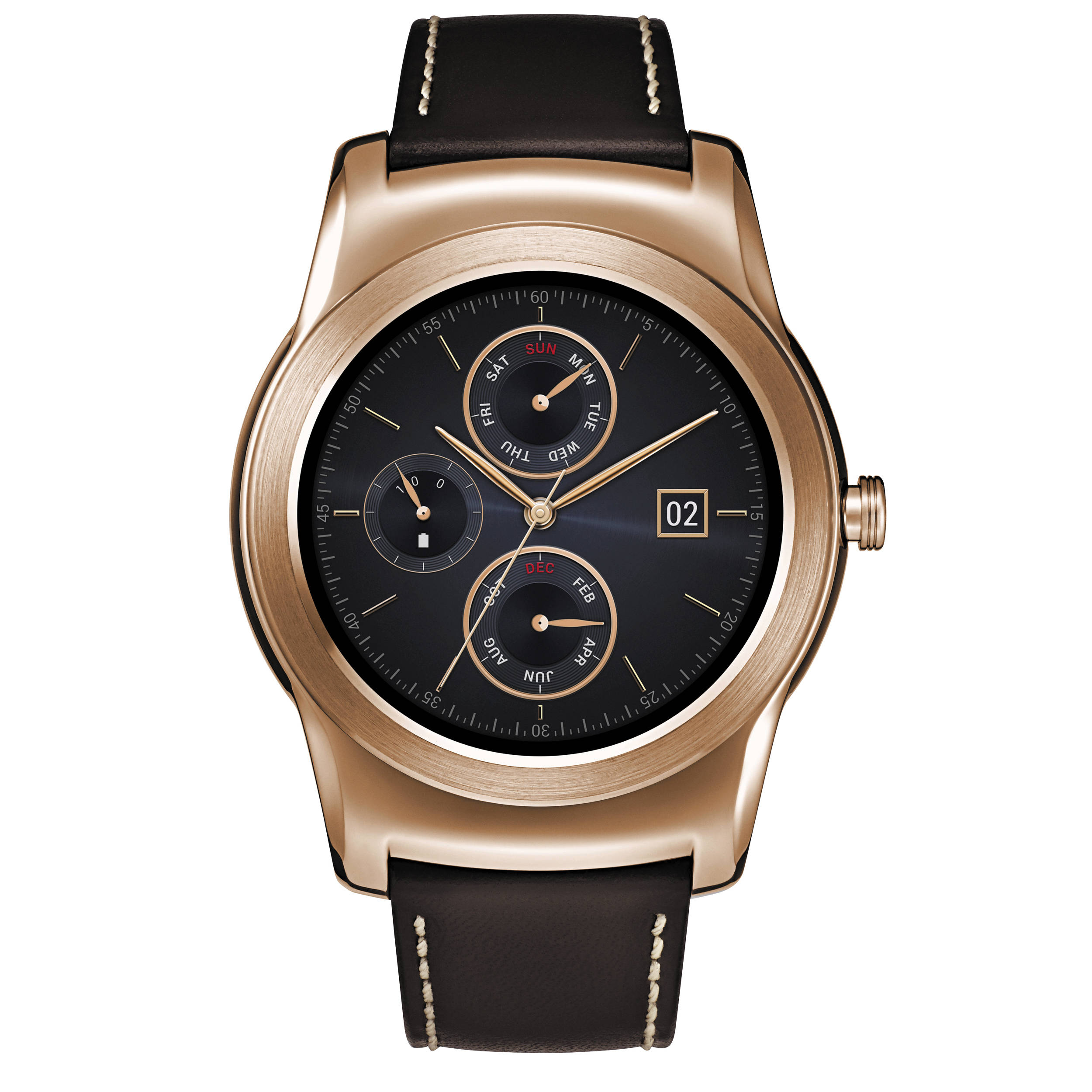 LG Watch Urbane Smartwatch (Gold with Brown Strap) LGW150 ...
