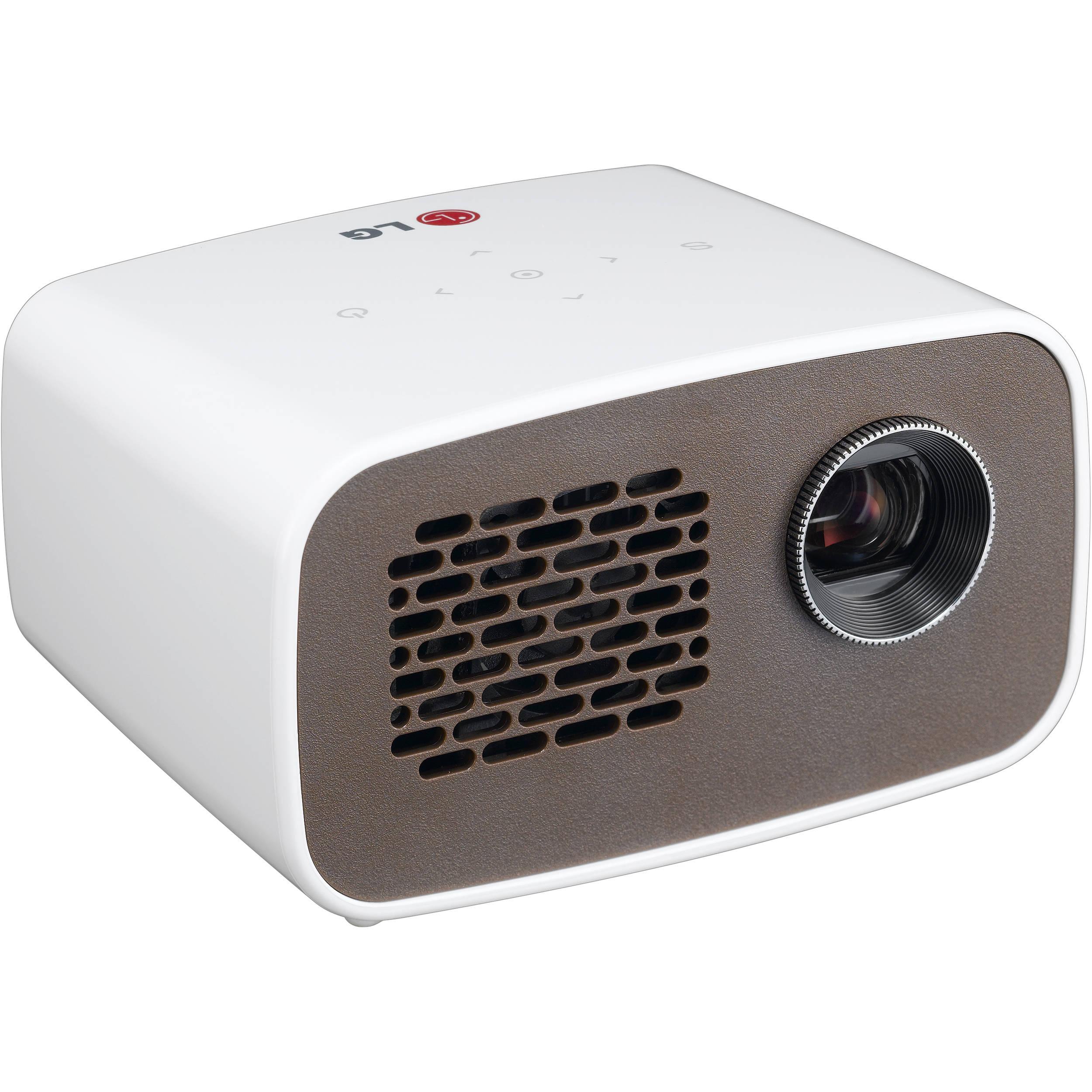 Lg ph300 hd minibeam portable dlp led projector ph300 b h for Hd video projector