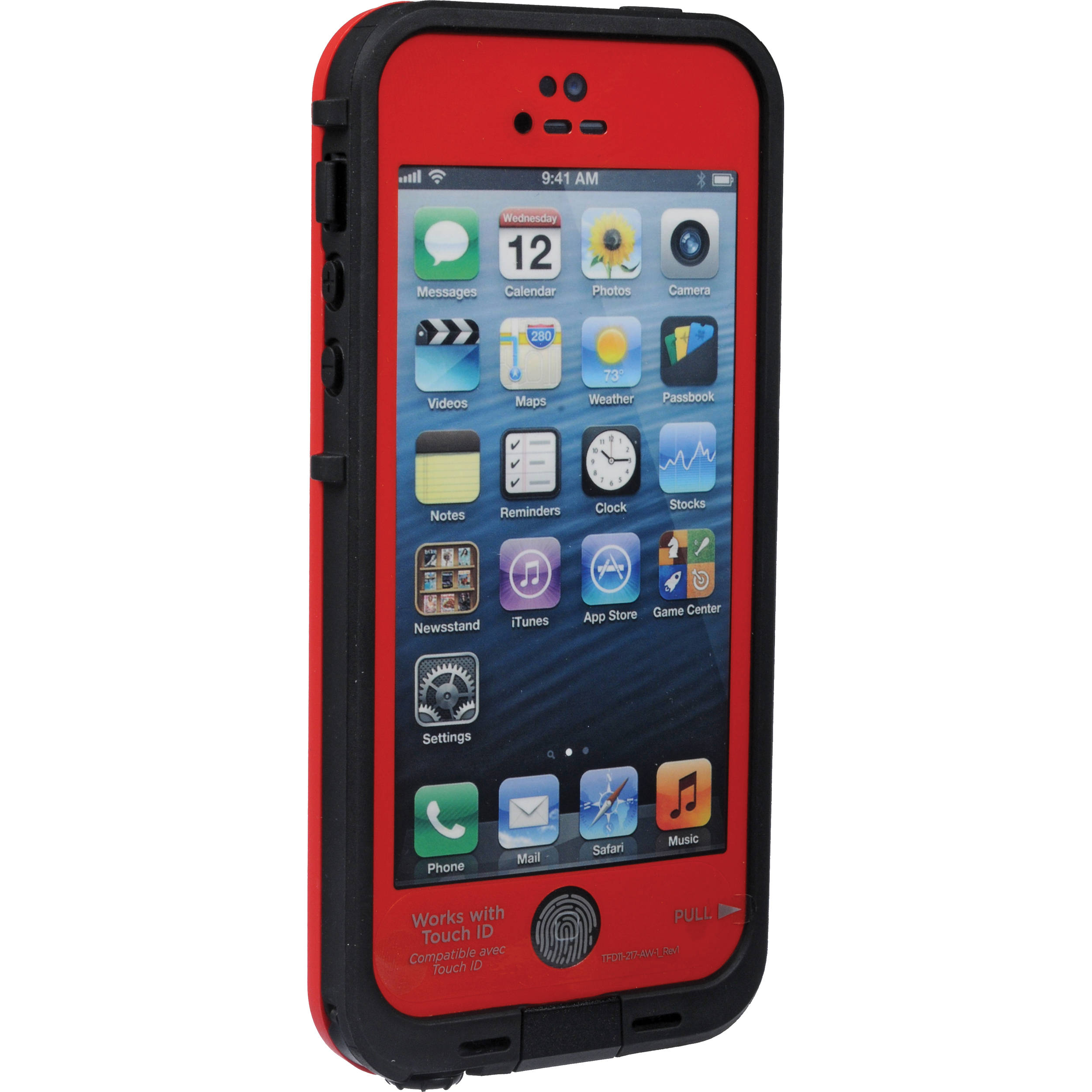 iphone 5s red lifeproof fr for iphone 5 5s se black 2101 05 b amp h 11237