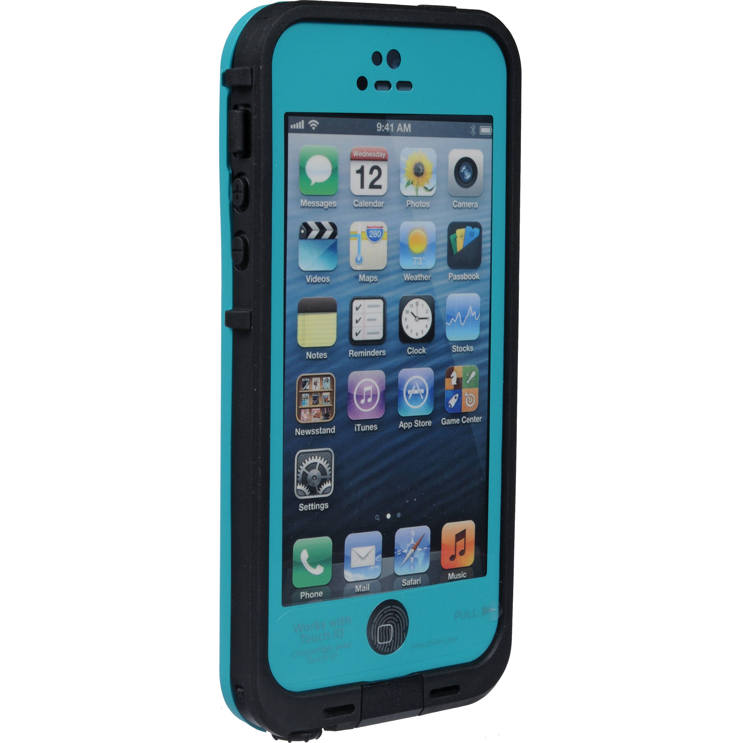 iphone 5s cases lifeproof lifeproof fr for iphone 5 5s se teal black 2101 06 b amp h 4305