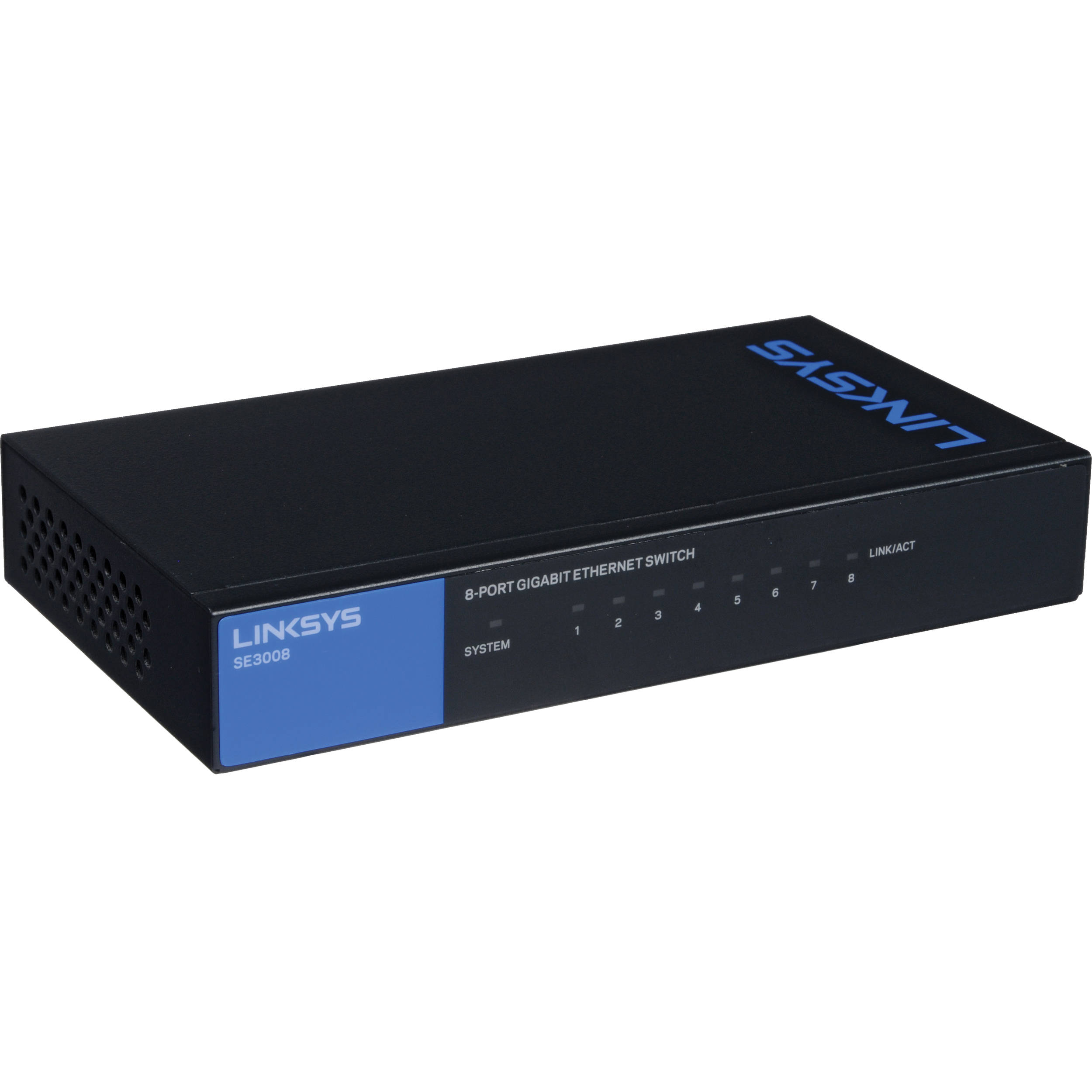 Linksys Bh Photo Video 4 Way Ethernet Switch Se3008 8 Port Gigabit