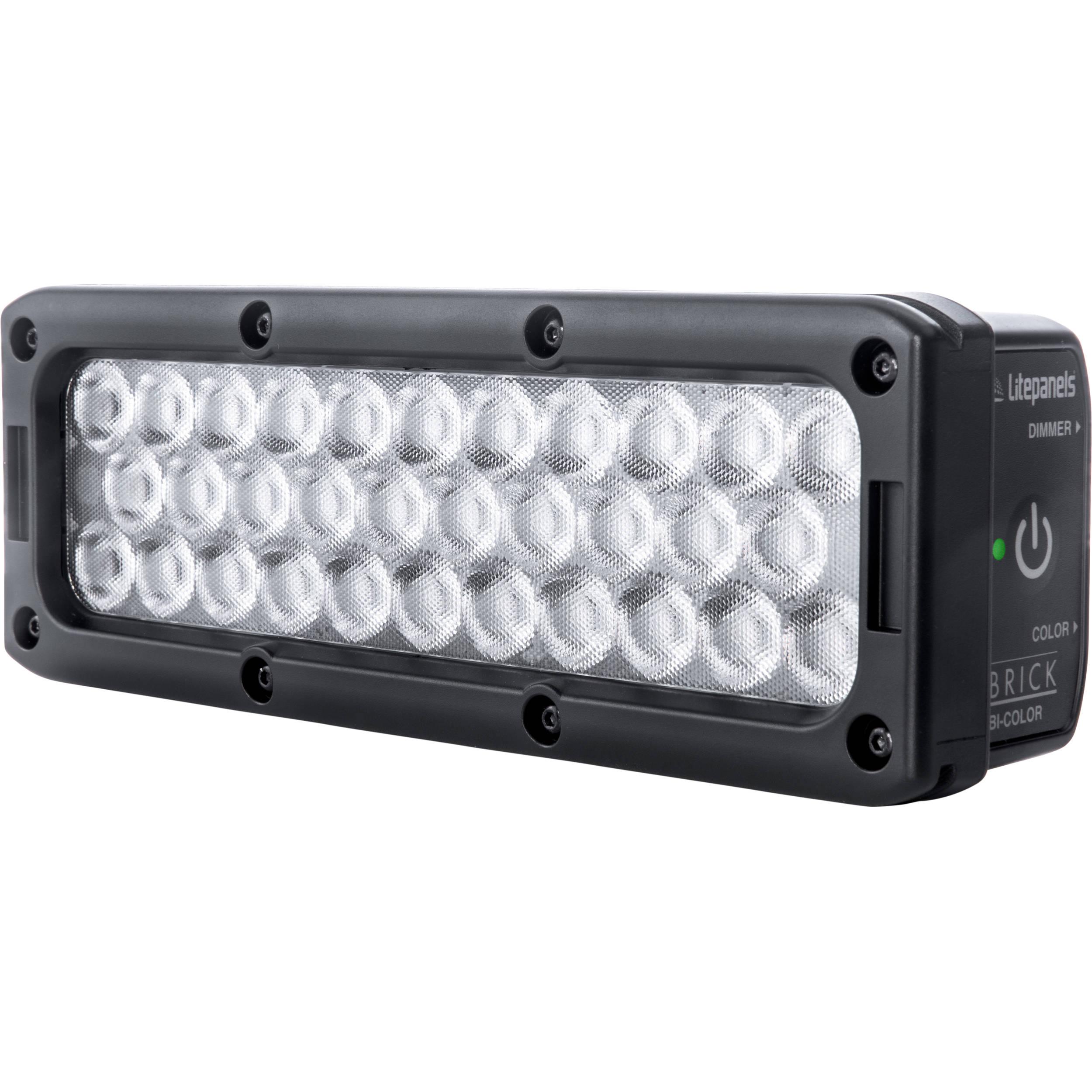 Litepanels Brick Bi Color On Camera Led Light 915 1003 Bh Photo Options Solid Leds