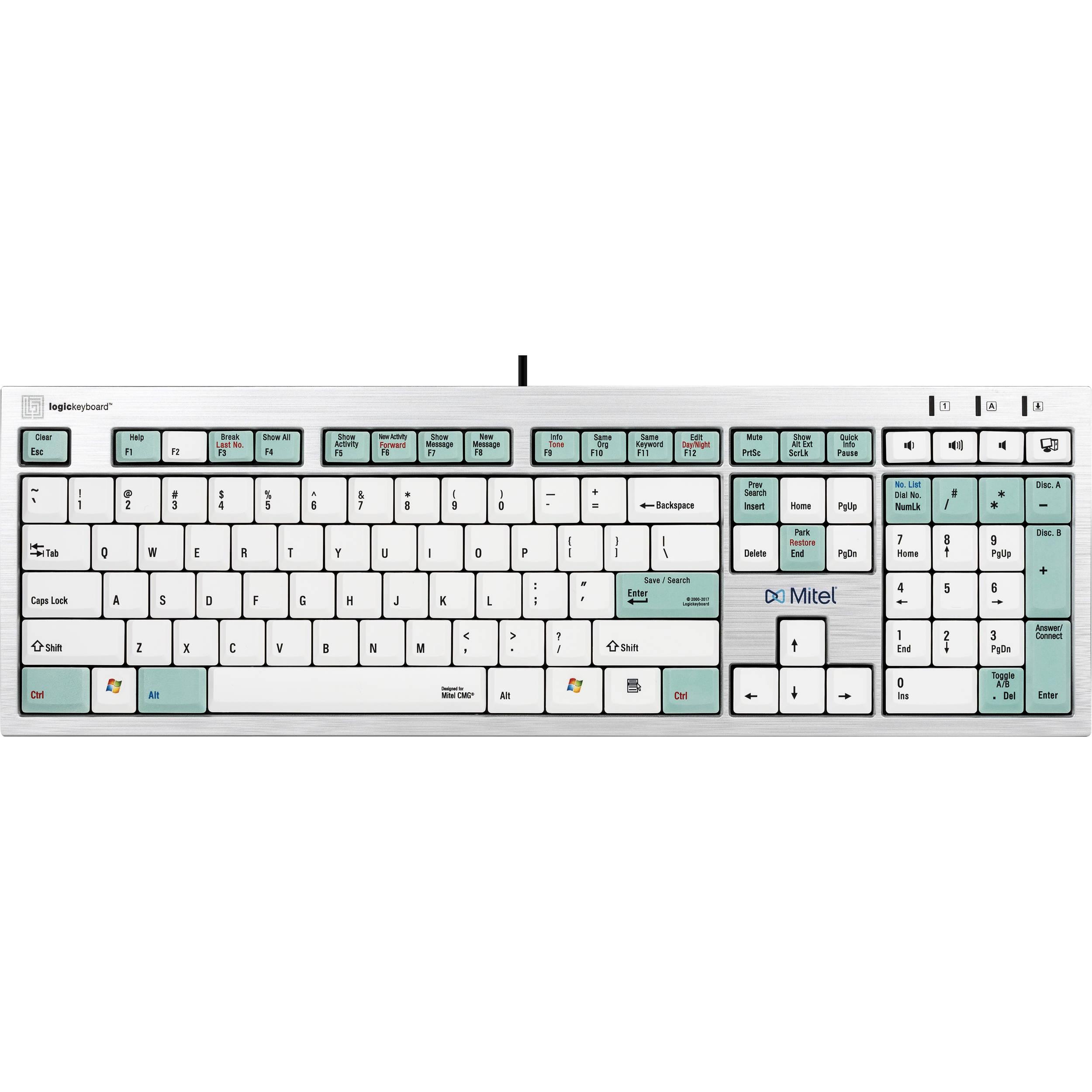 LogicKeyboard Telecom Keyboard for Mitel LKBU-CMG-AJPU-US B&H