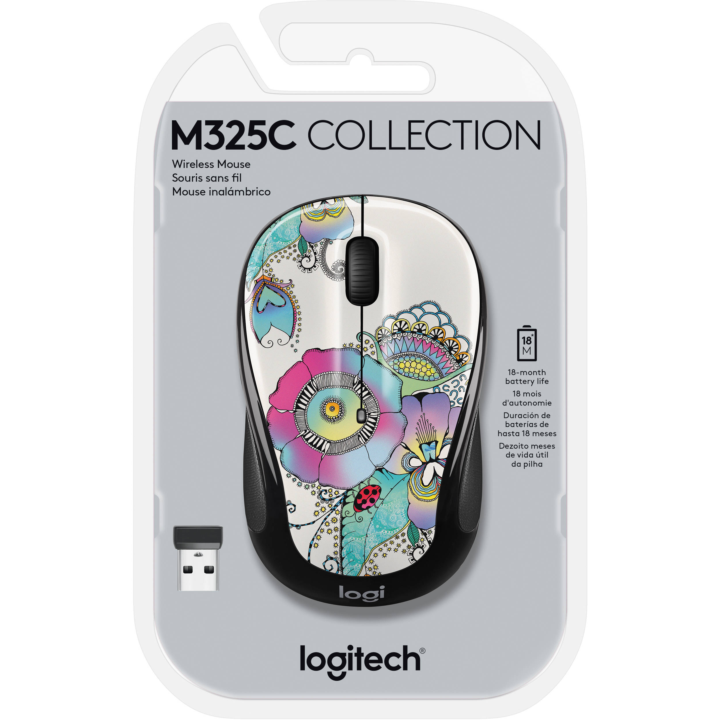 M325c Wireless Mouse (Lady on the Lily)