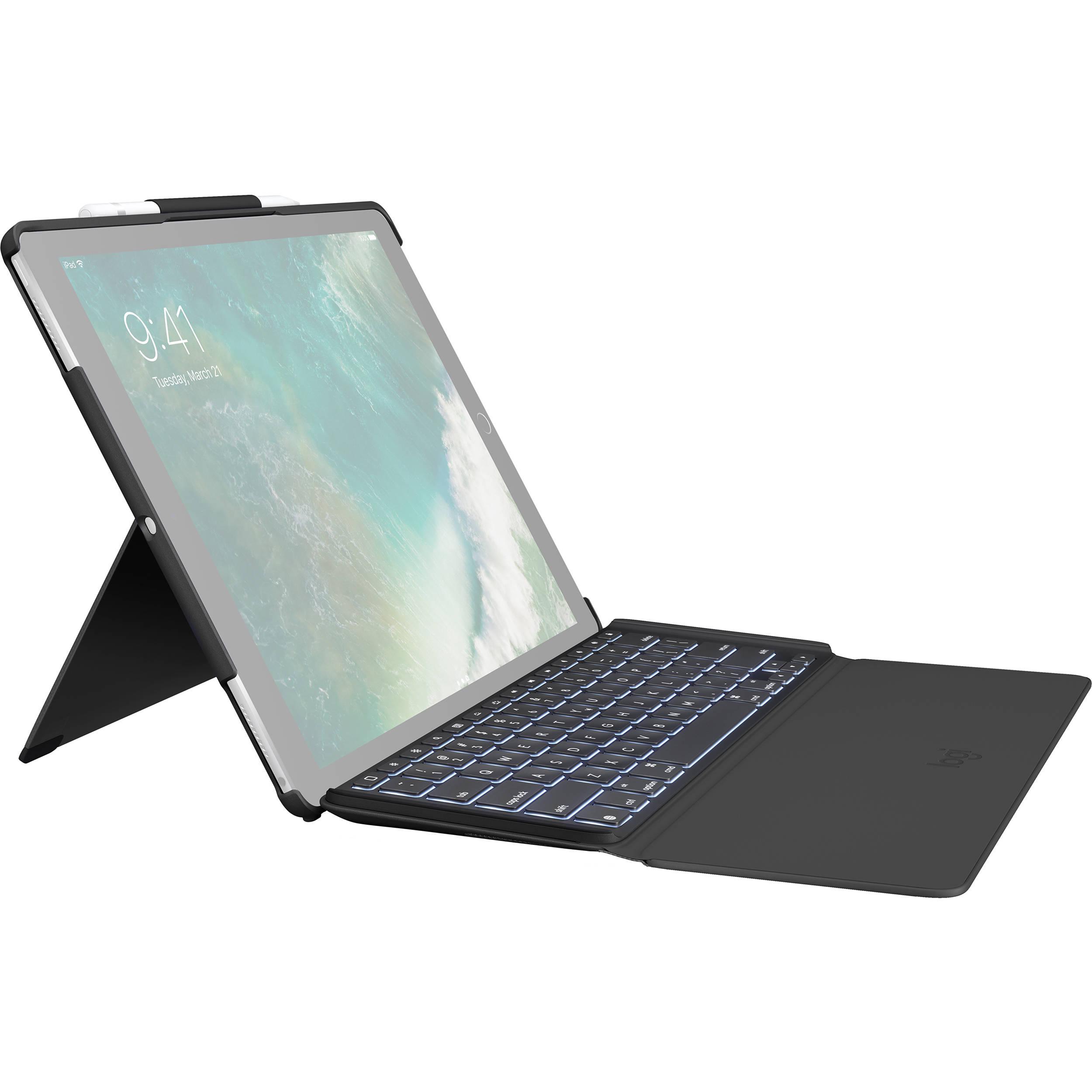 be0363e0b42 Logitech SLIM COMBO Keyboard Case for 1st/2nd-Gen 920-008432 B&H
