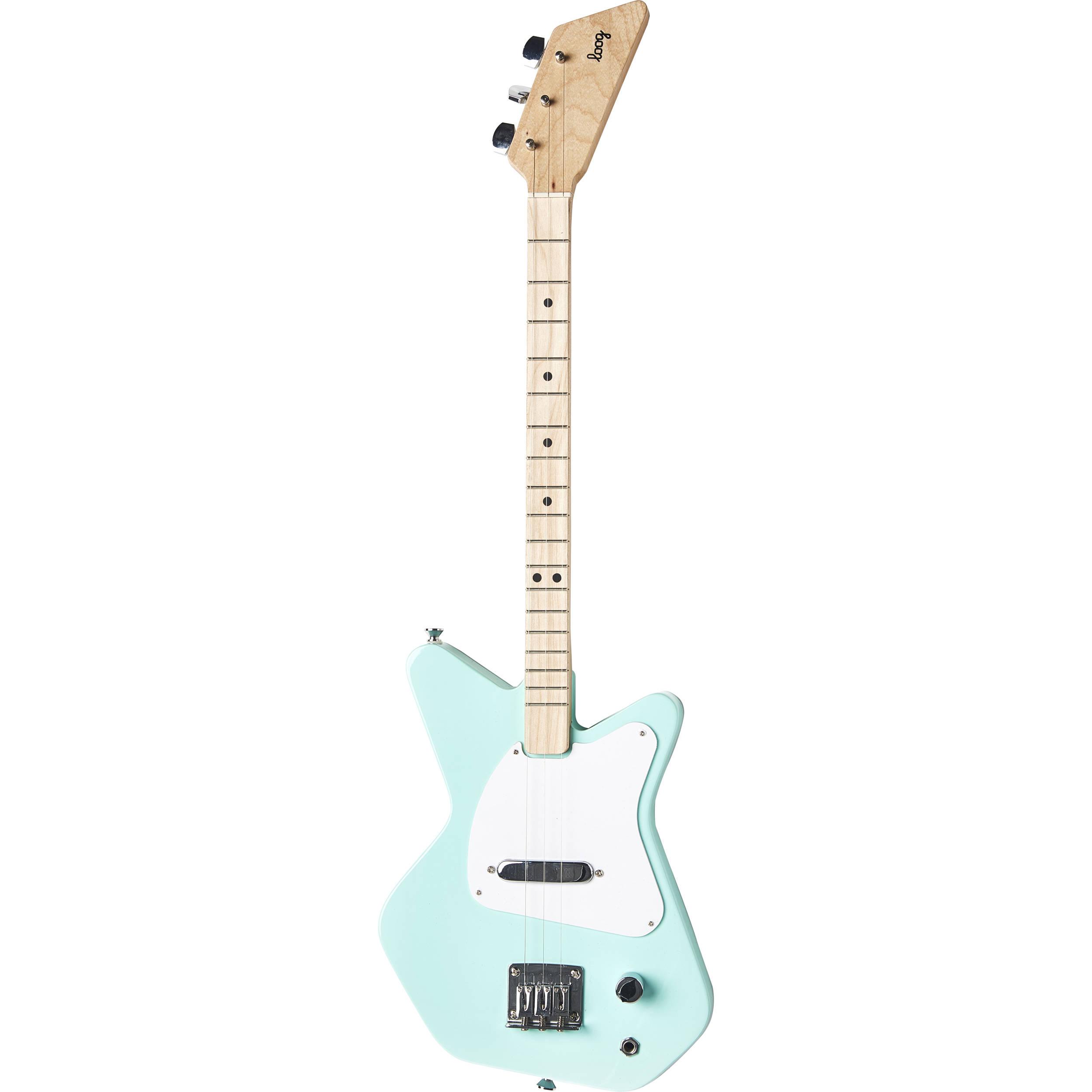 loog pro electric guitar for children green lgpreg b h photo. Black Bedroom Furniture Sets. Home Design Ideas