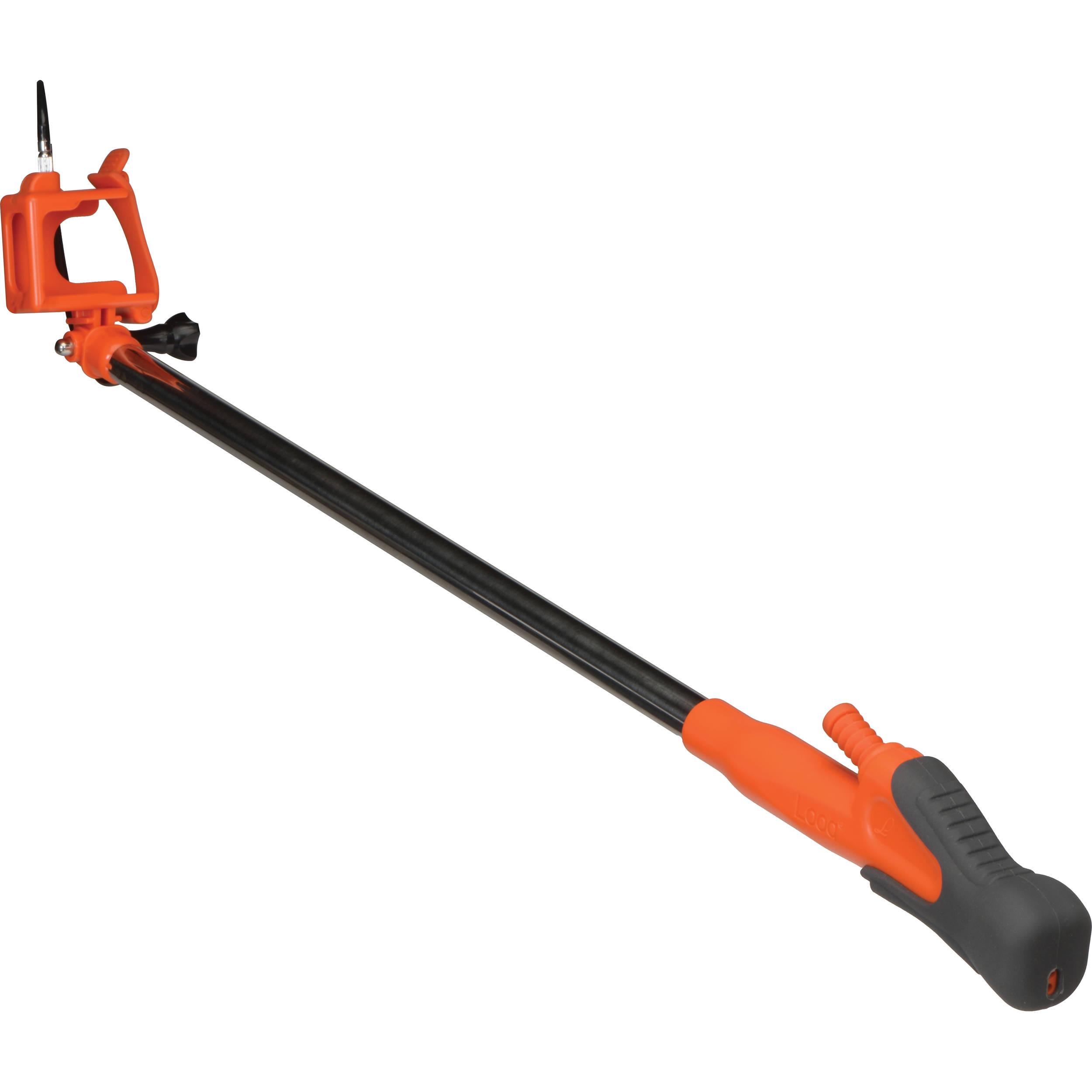 looq pro selfie stick for gopro orange pgc br01 b h photo. Black Bedroom Furniture Sets. Home Design Ideas