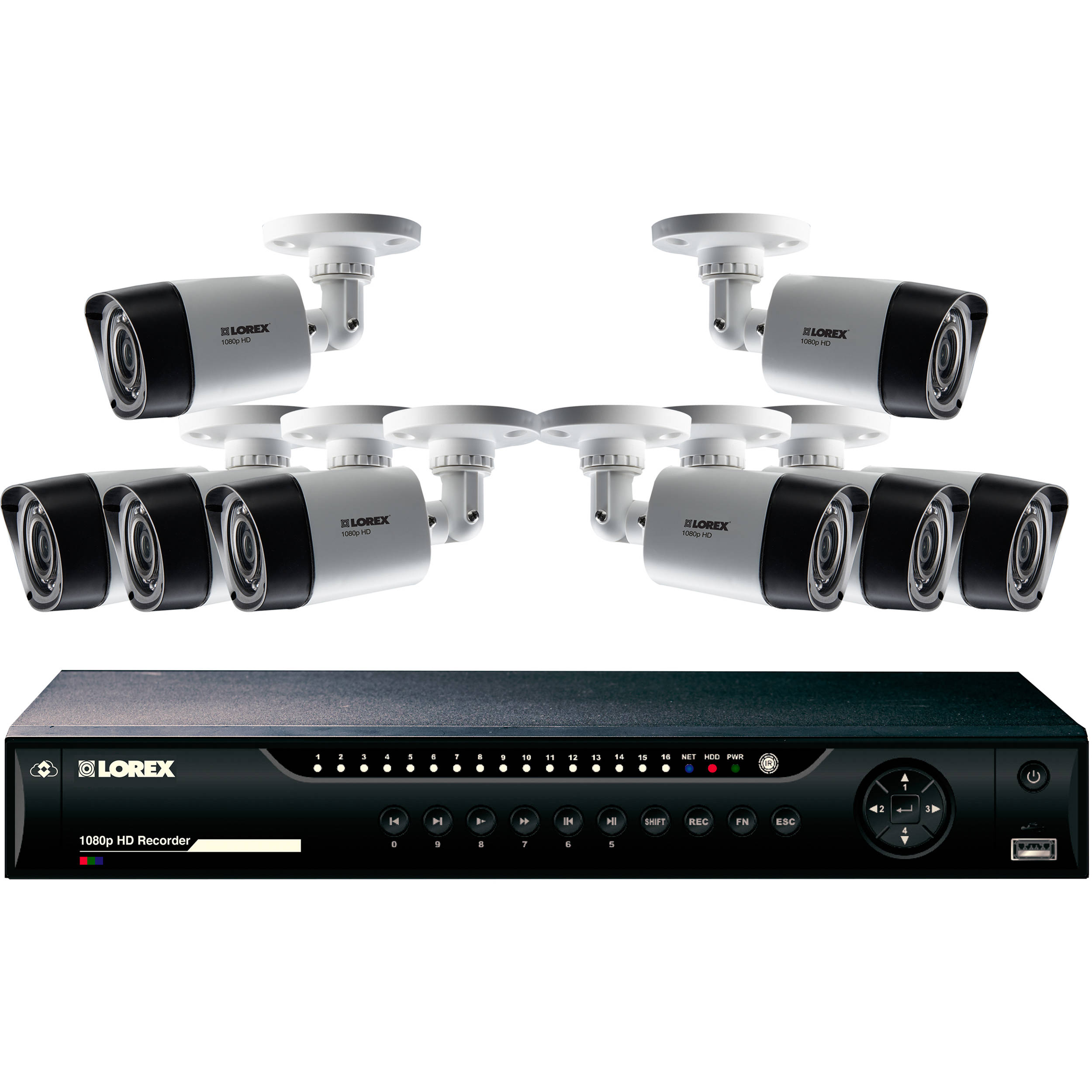 Lorex 16 Channel 1080p Dvr With 2tb Hdd And 8 1080p