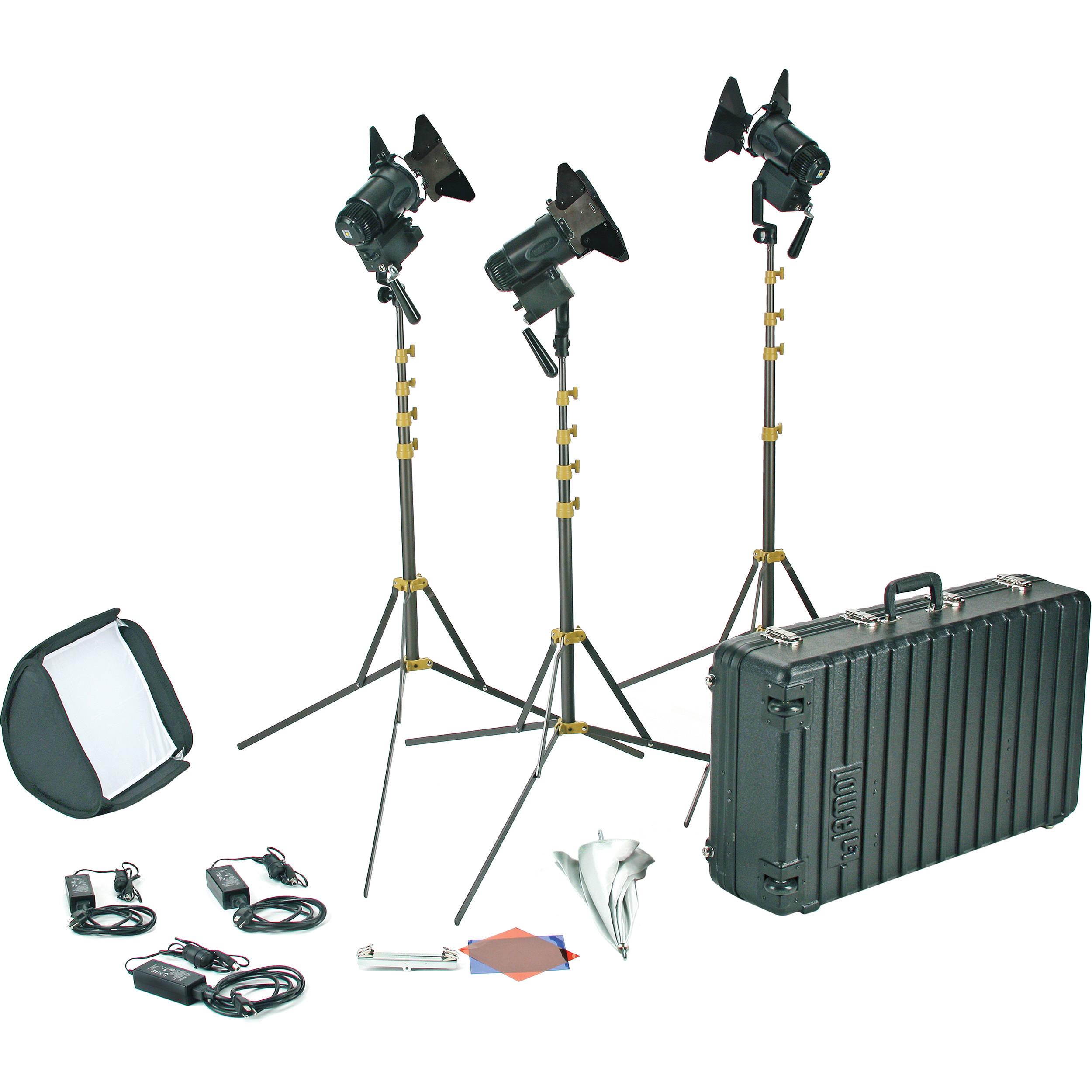 lowel pro power daylight led 3 light ac kit g5 93da b h photo  sc 1 th 225 & B H Photography Lighting Equipment. vidpro led 1x1 professional ...