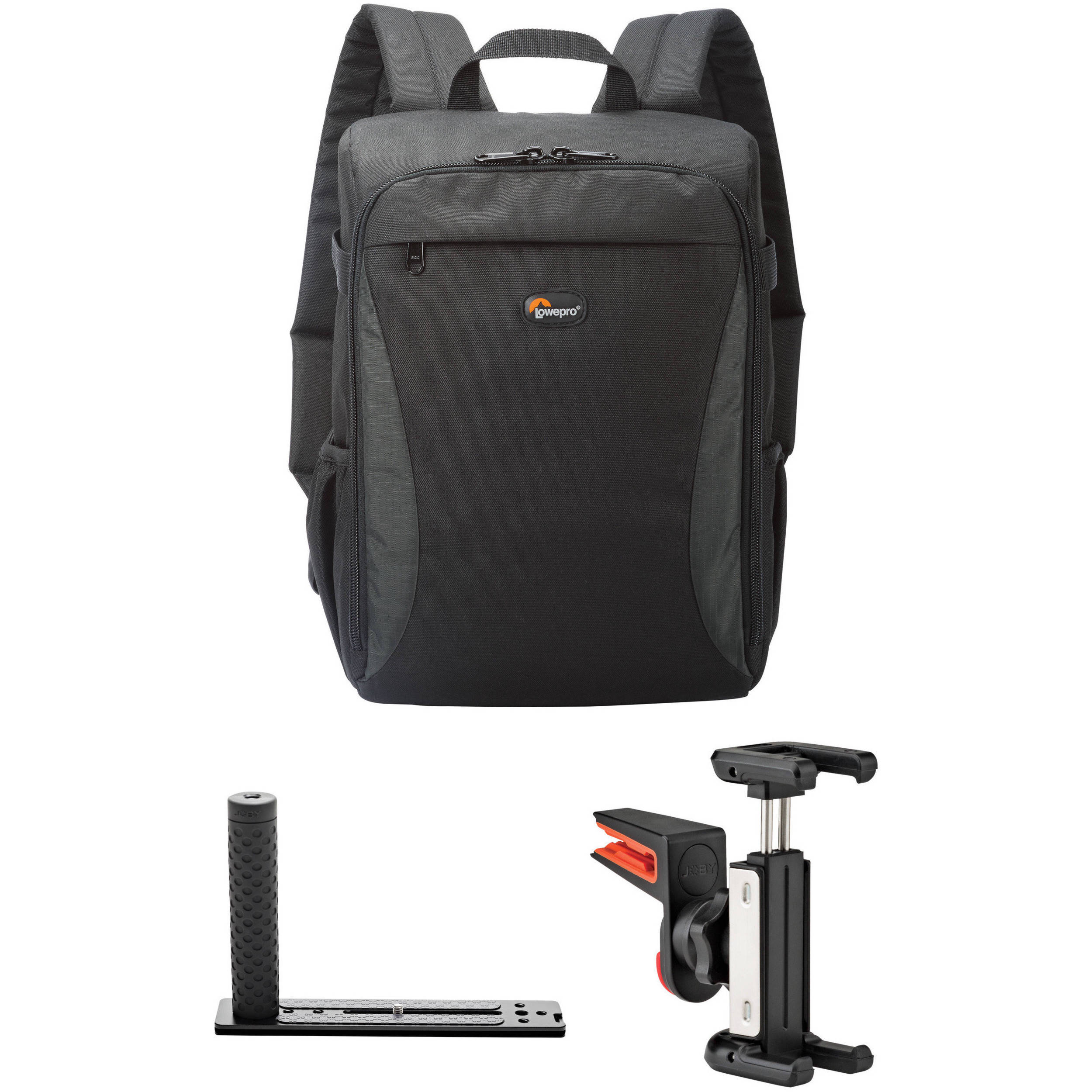 Lowepro Format Backpack 150 Kit with DSLR Hand Grip   Smartphone Clip (Black ) ae22554829ea3