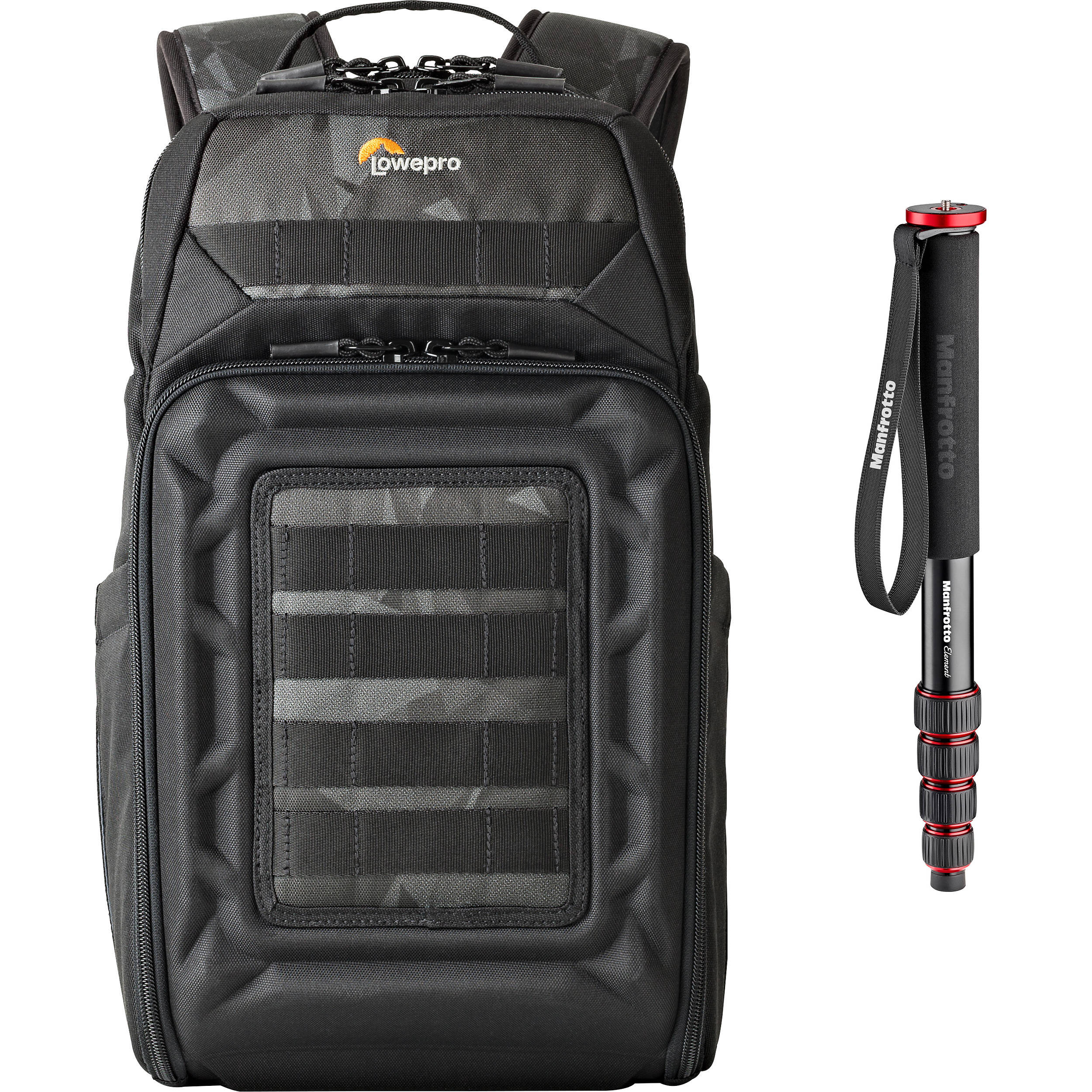 9c6d31e4773 Lowepro DroneGuard BP 200 Backpack for DJI Mavic Pro/Air with Manfrotto  Monopod