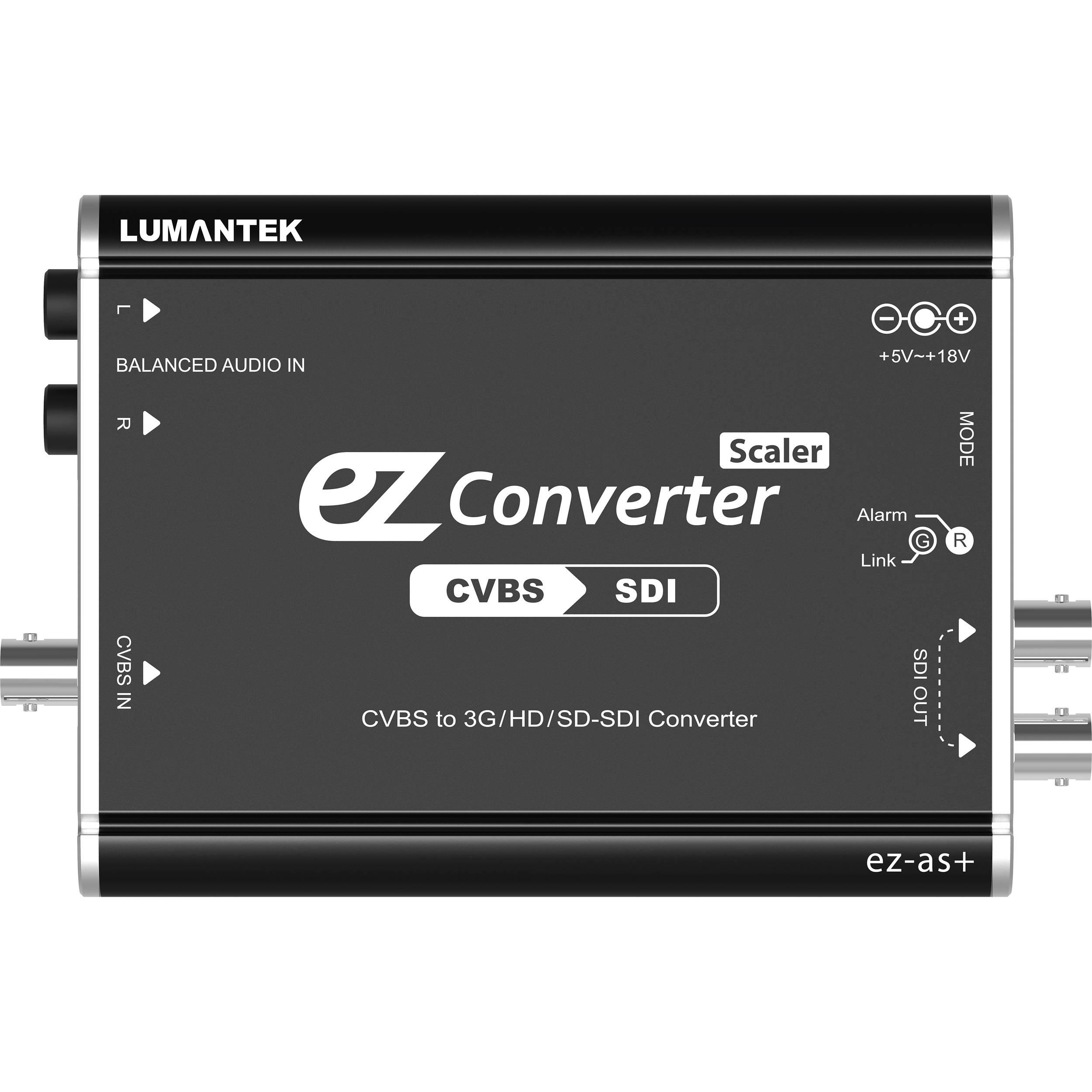 Lumantek Cvbs To 3g Hd Sd Sdi Converter Ez As Bh Rbvhda8 Sdsdi 1 Input 8 Output Video Distribution Amplifier With Scaler
