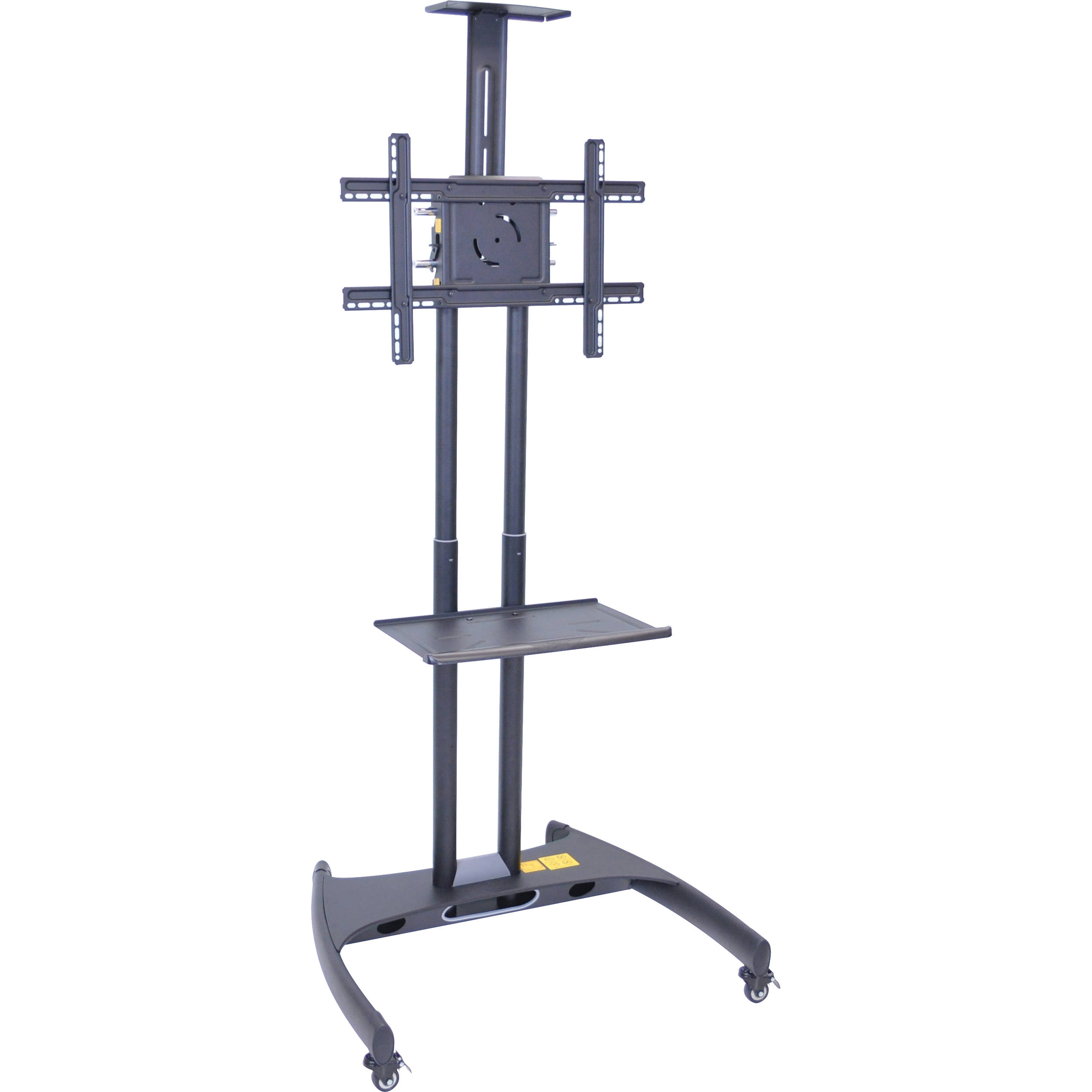 Luxor FP2750 Adjustable Height LCD TV Stand Andu0026nbsp;Mount With Accessory  Shelf And Camera Mount