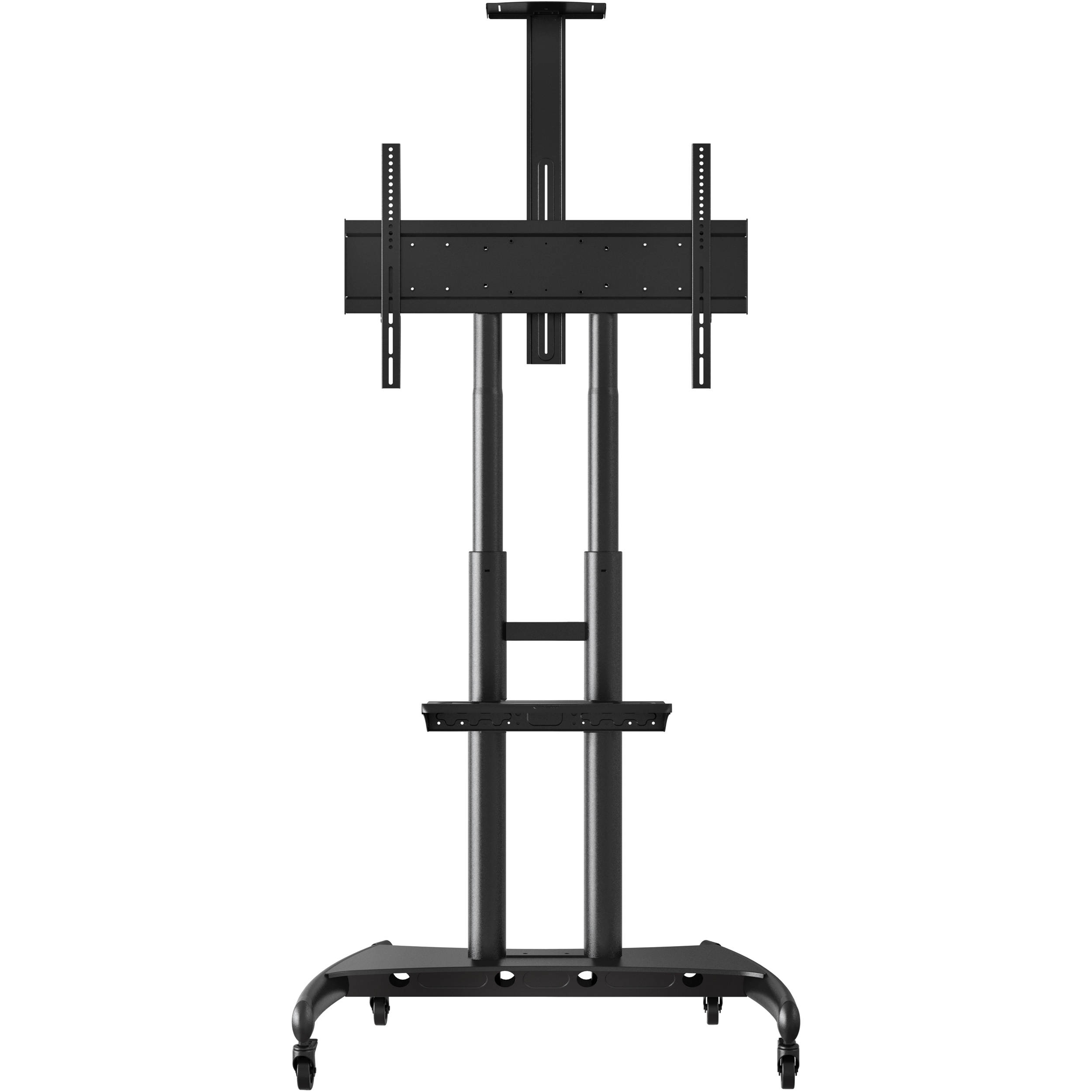Luxor FP4000 Adjustable Height LCD TV Stand and nbsp Mount with Accessory  Shelf and Camera Mount. Luxor FP4000 Adjustable Height LCD TV Stand FP4000 B H Photo