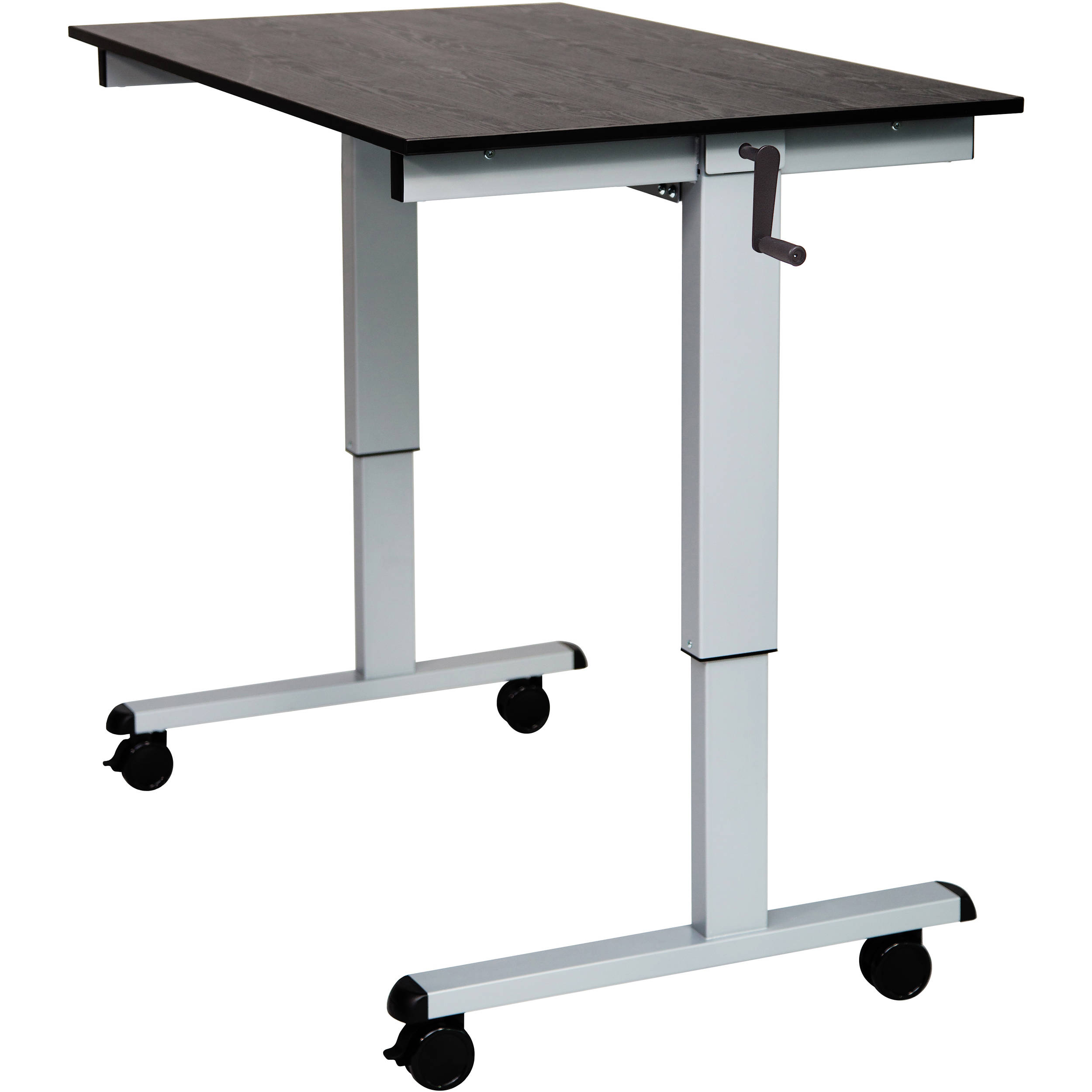 product move beech square corners and crank set office stand height forget silver sit icon adjustable desk