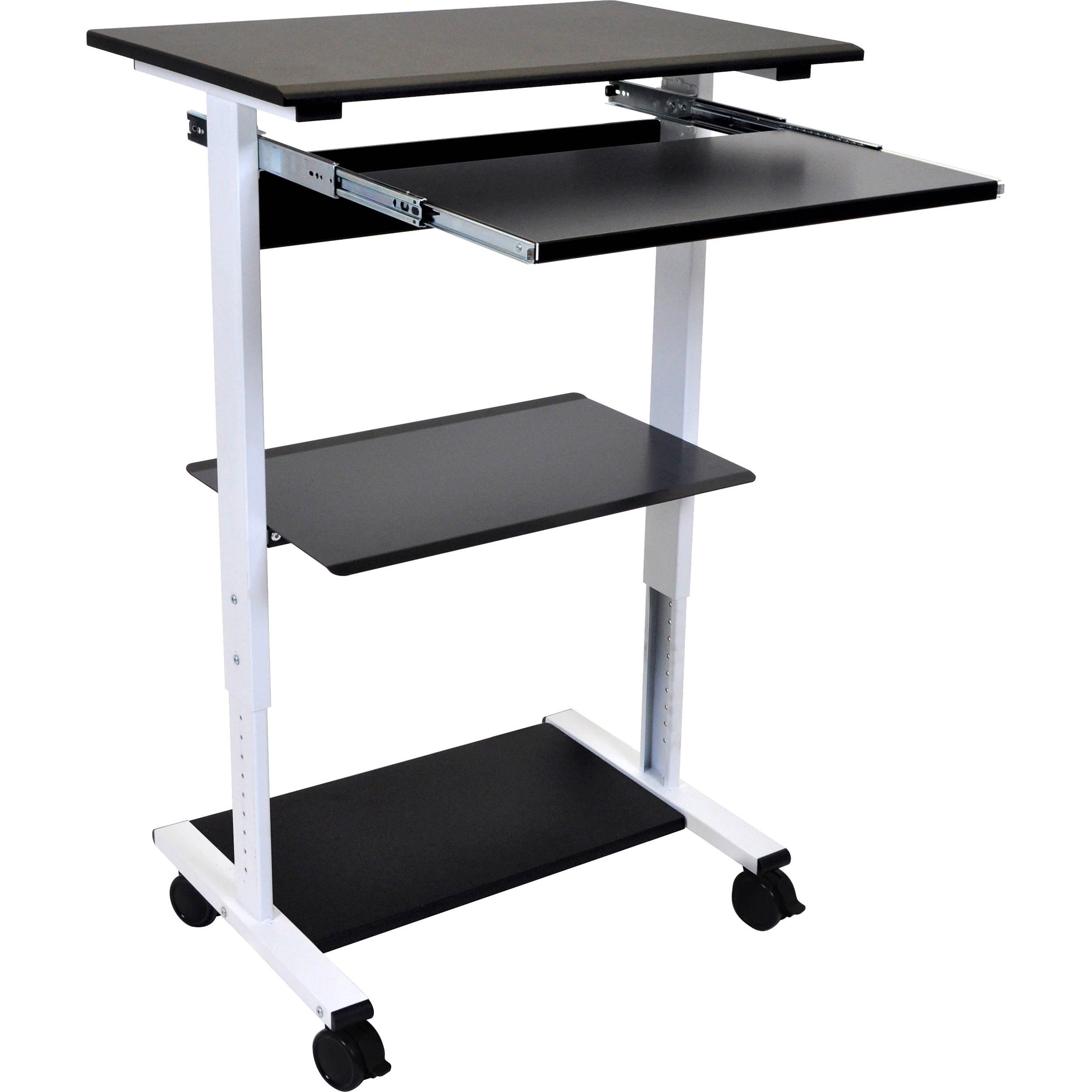 Luxor Three Shelf Adjustable Stand Up Workstation