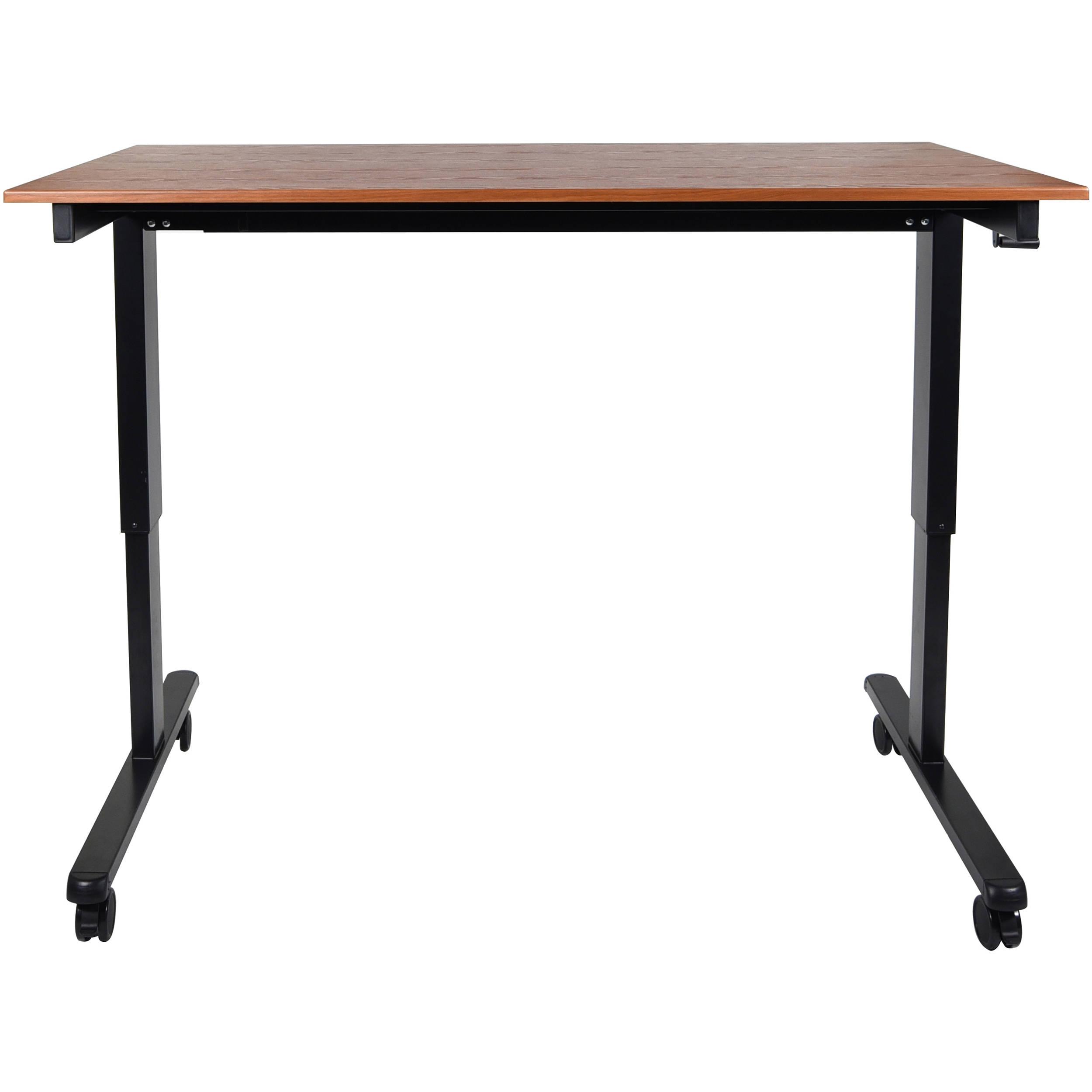 Luxor 60 Quot Crank Adjustable Stand Up Desk Standcf60 Bk Tk