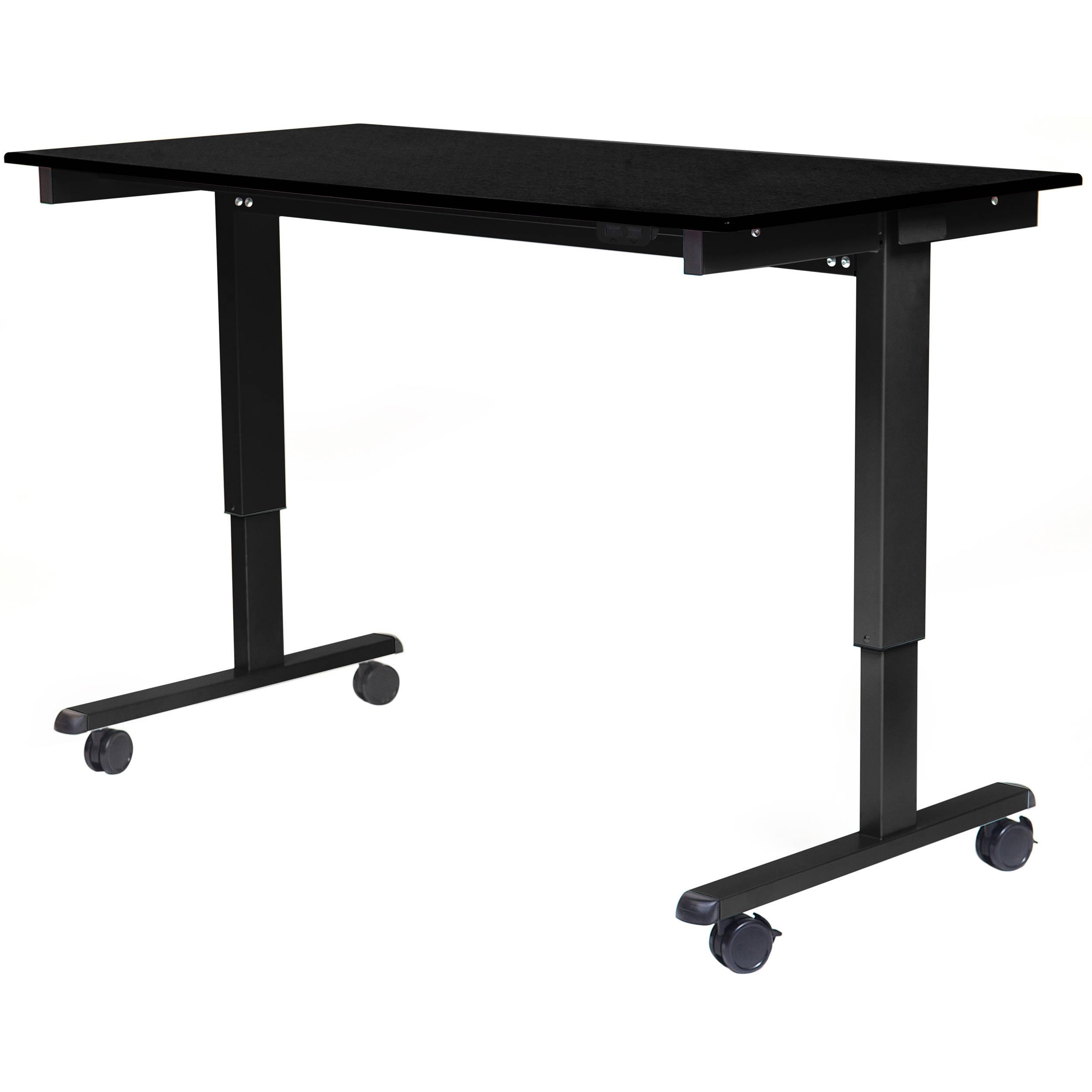 Luxor 60 Electric Standing Desk Black Oak Frame