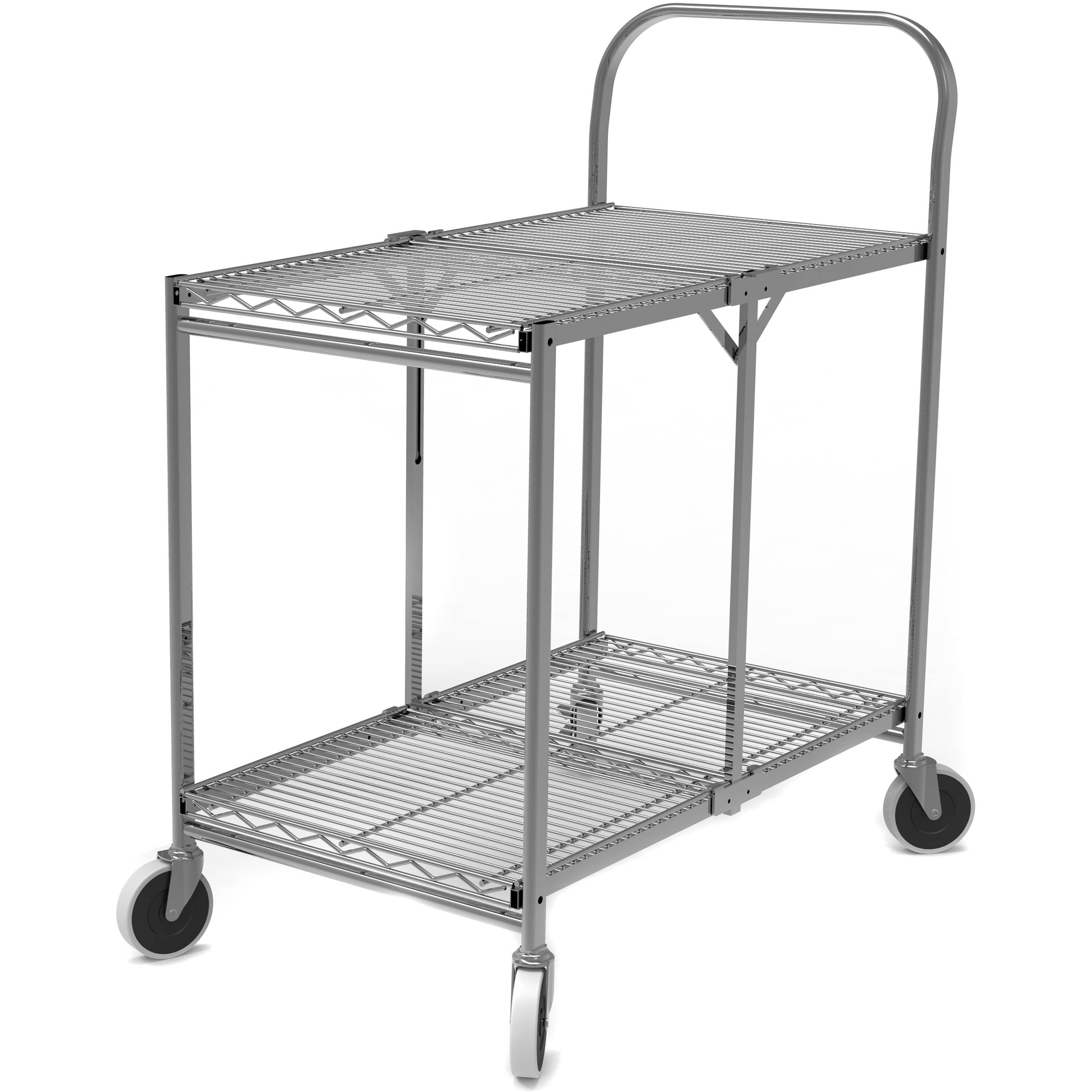 Luxor Two-Shelf Collapsible Wire Utility Cart WSCC-2 B&H Photo
