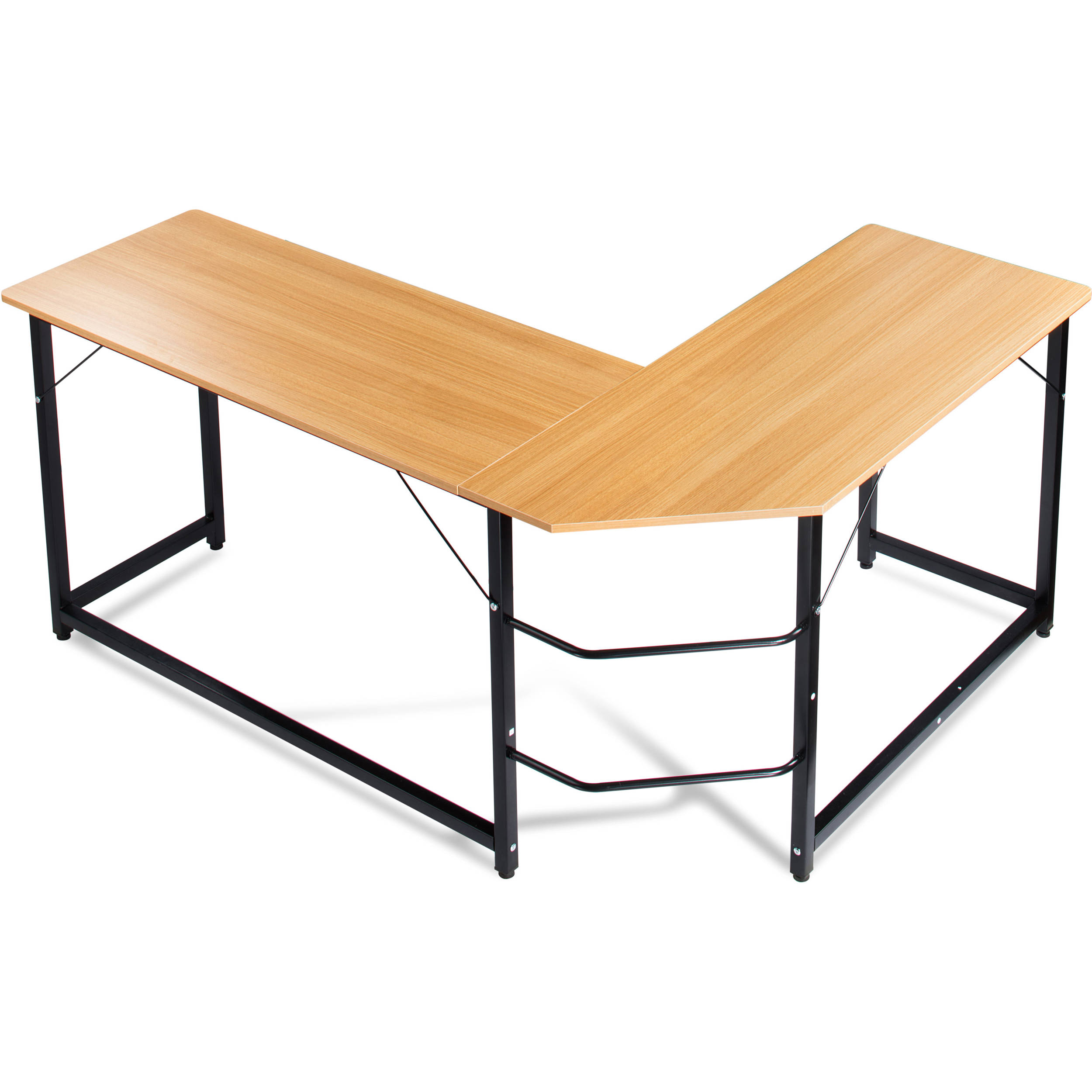 luxxetta l shaped office computer desk bf cd10beg b h photo. Black Bedroom Furniture Sets. Home Design Ideas