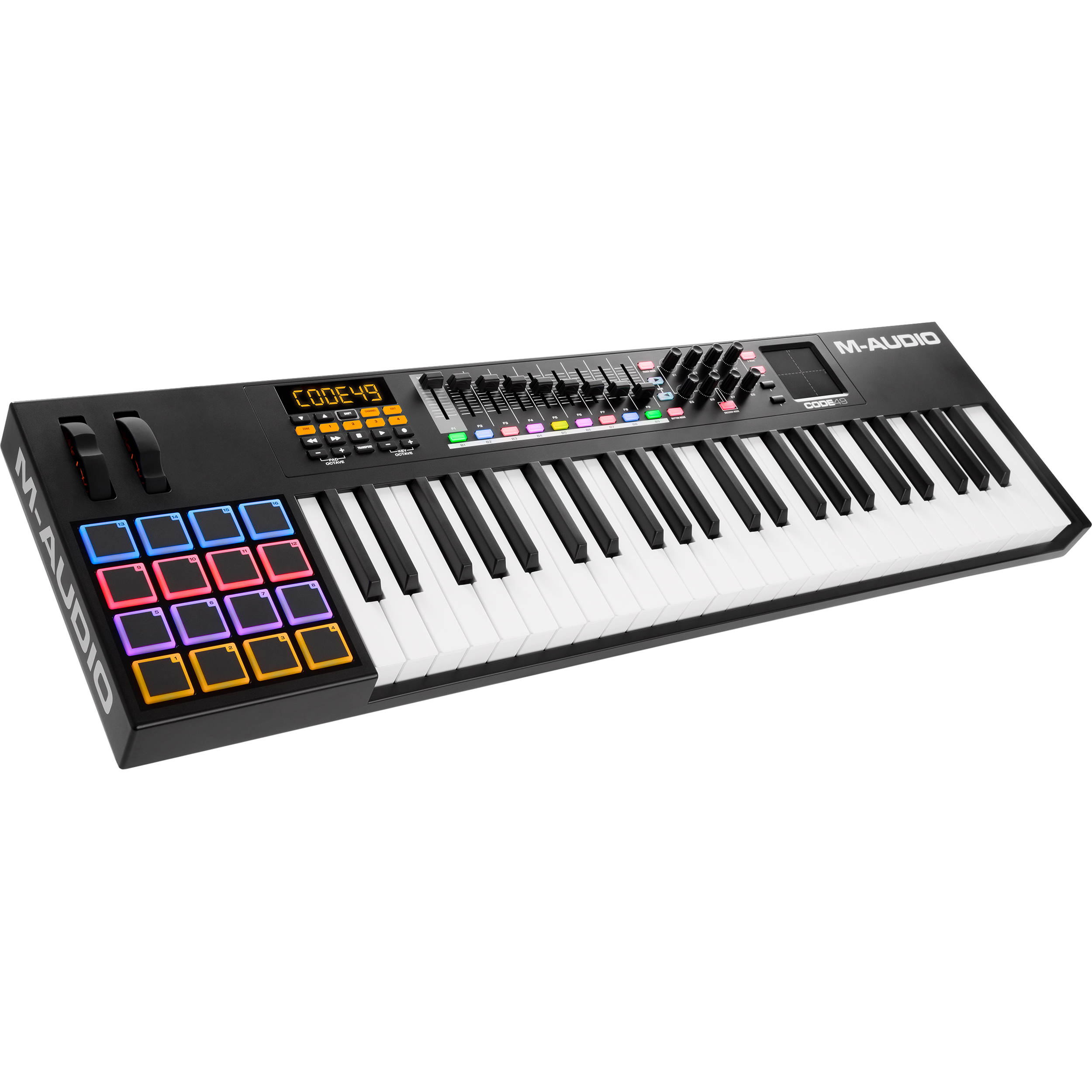 m audio code 49 49 key usb midi keyboard controller code 49. Black Bedroom Furniture Sets. Home Design Ideas
