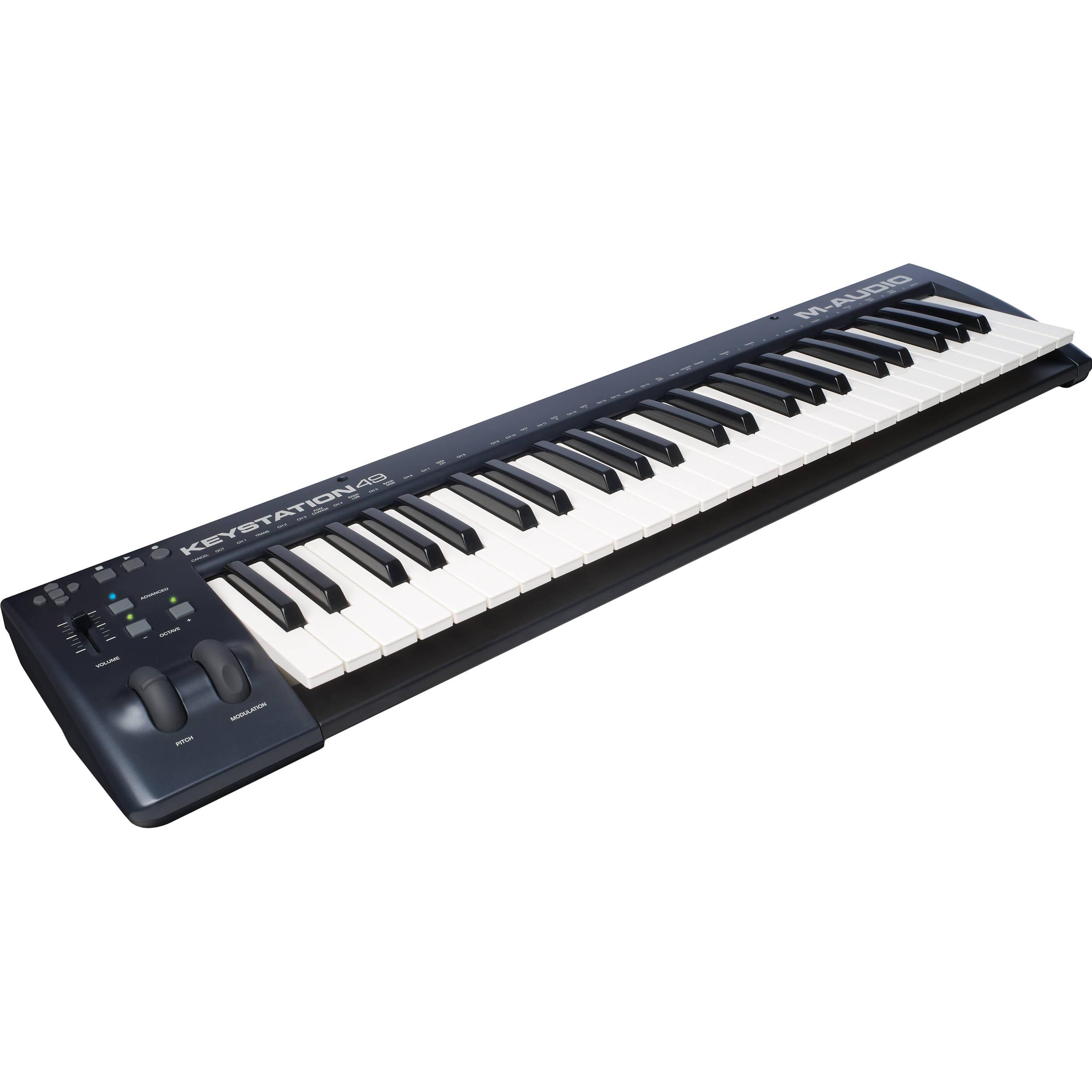 m audio keystation 49 ii midi controller keystation49ii b h. Black Bedroom Furniture Sets. Home Design Ideas