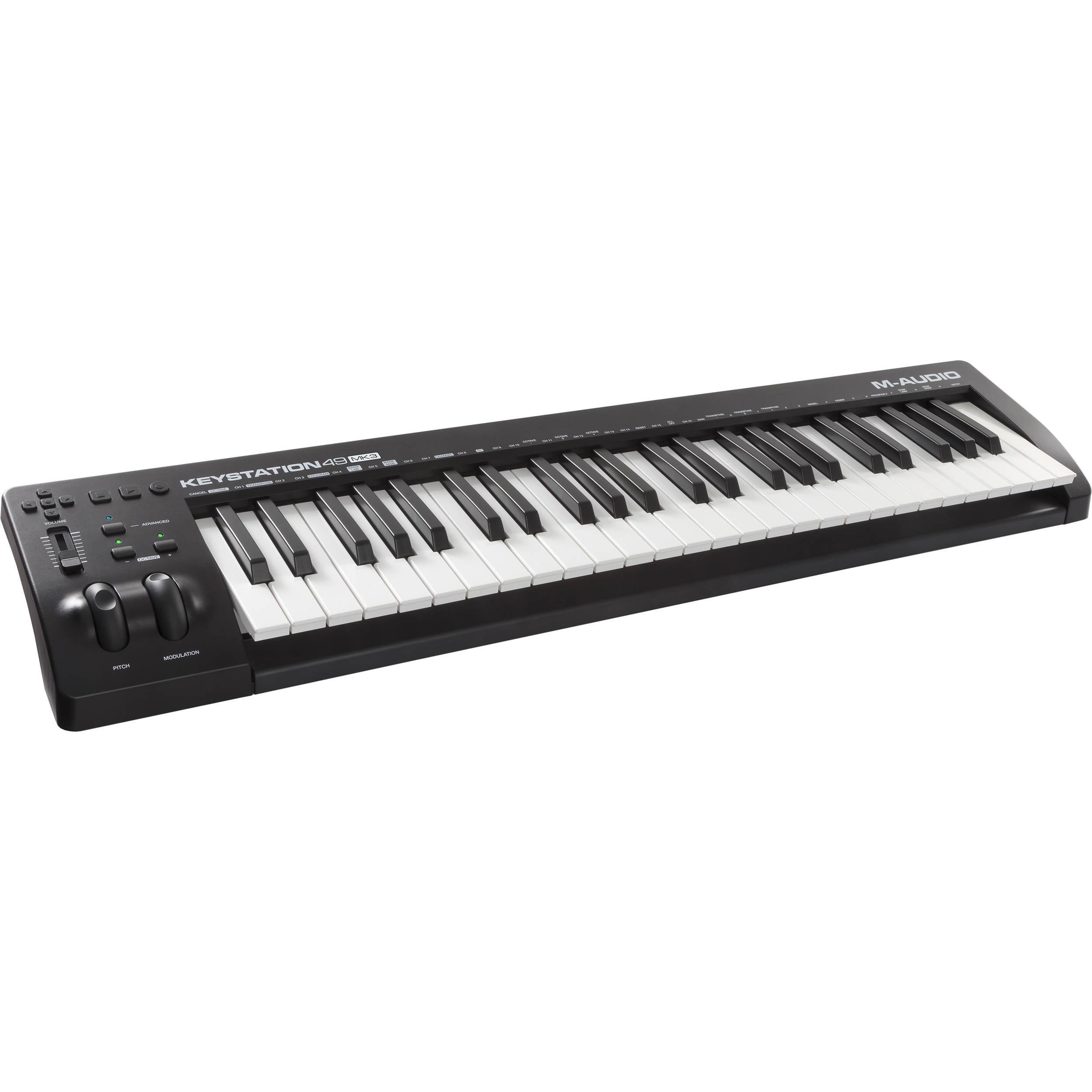 m audio keystation 49 mk3 49 key usb powered keystation 49 mk3