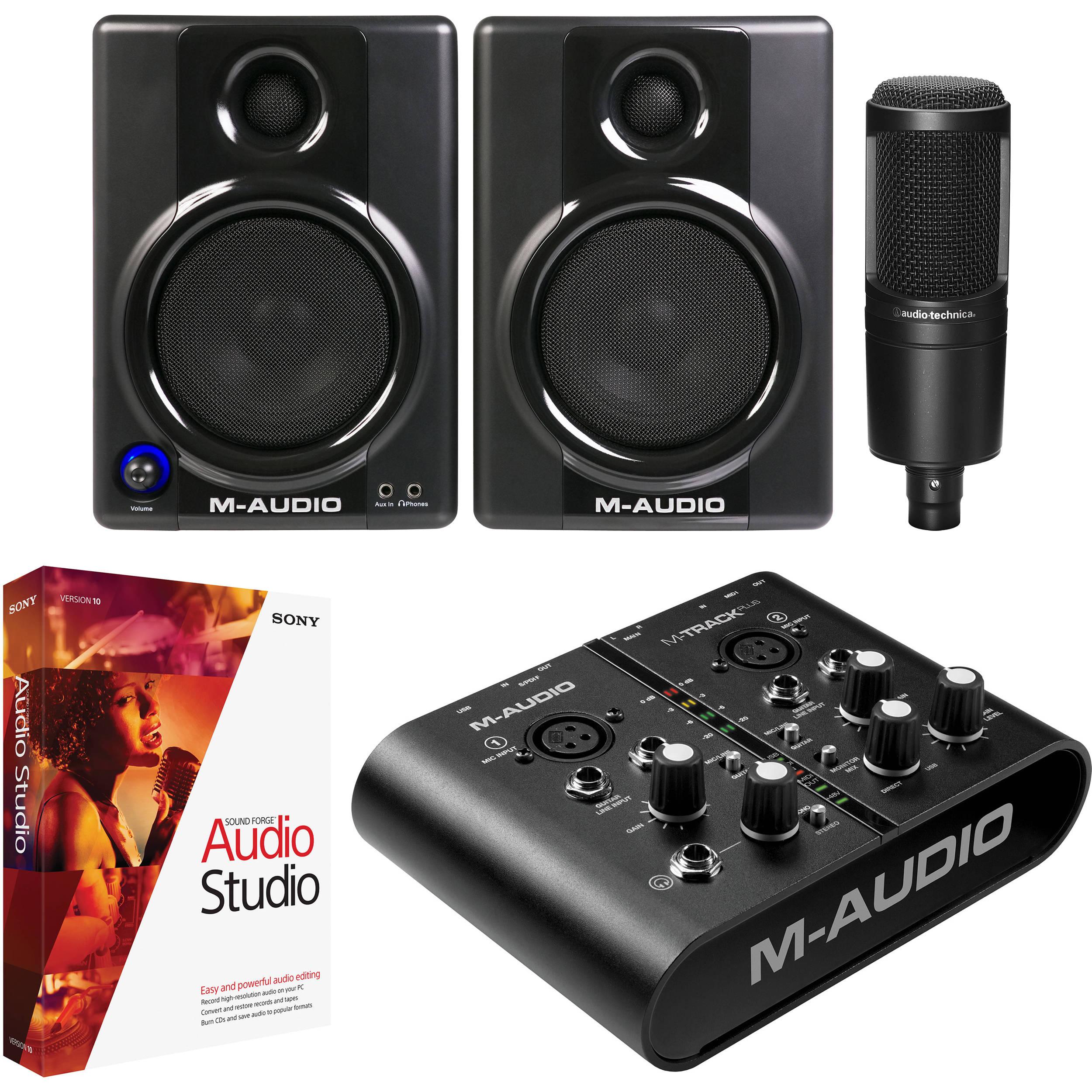 m audio m track plus desktop mobile recording system b h photo. Black Bedroom Furniture Sets. Home Design Ideas