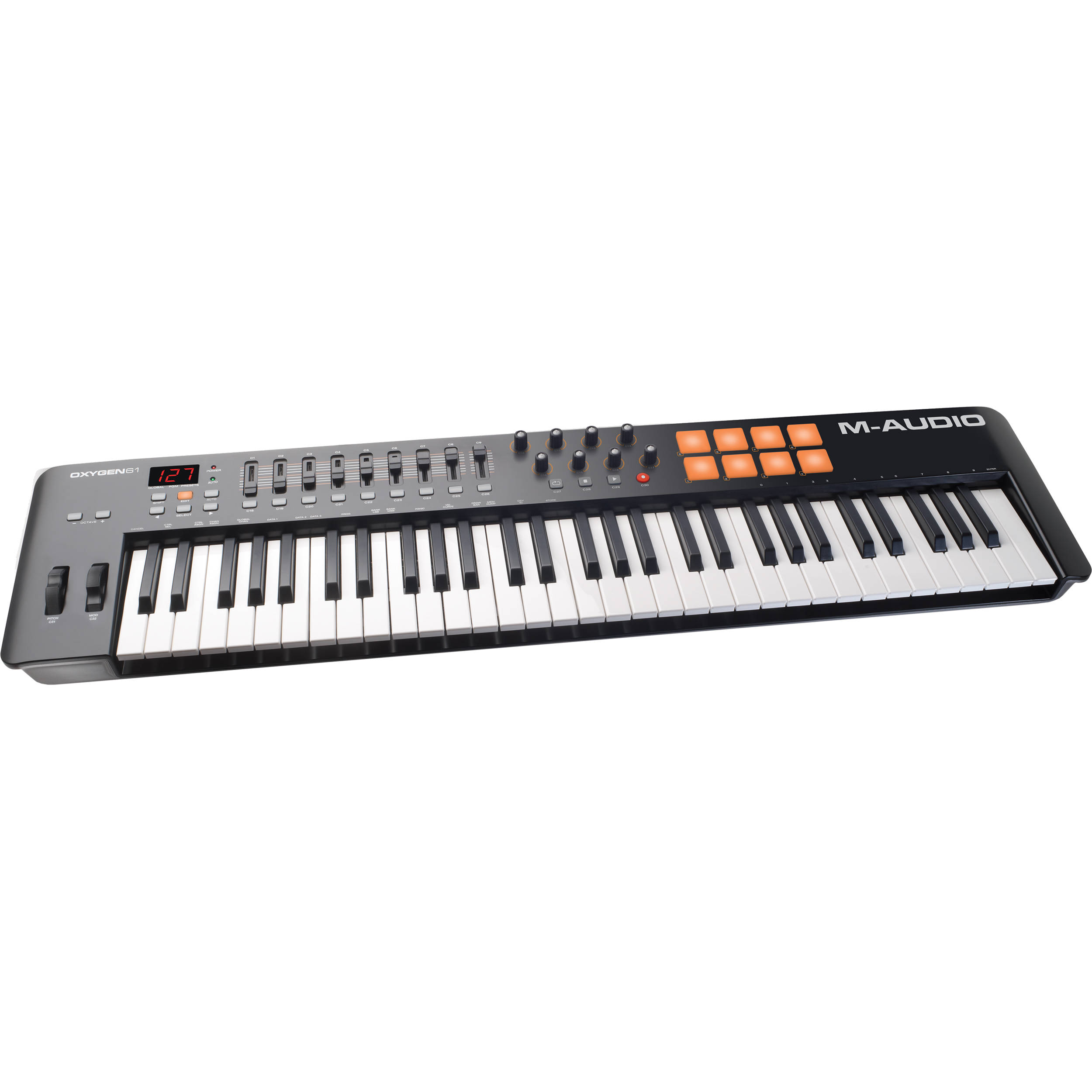 m audio oxygen 61 iv usb midi keyboard controller oxygen61iv. Black Bedroom Furniture Sets. Home Design Ideas