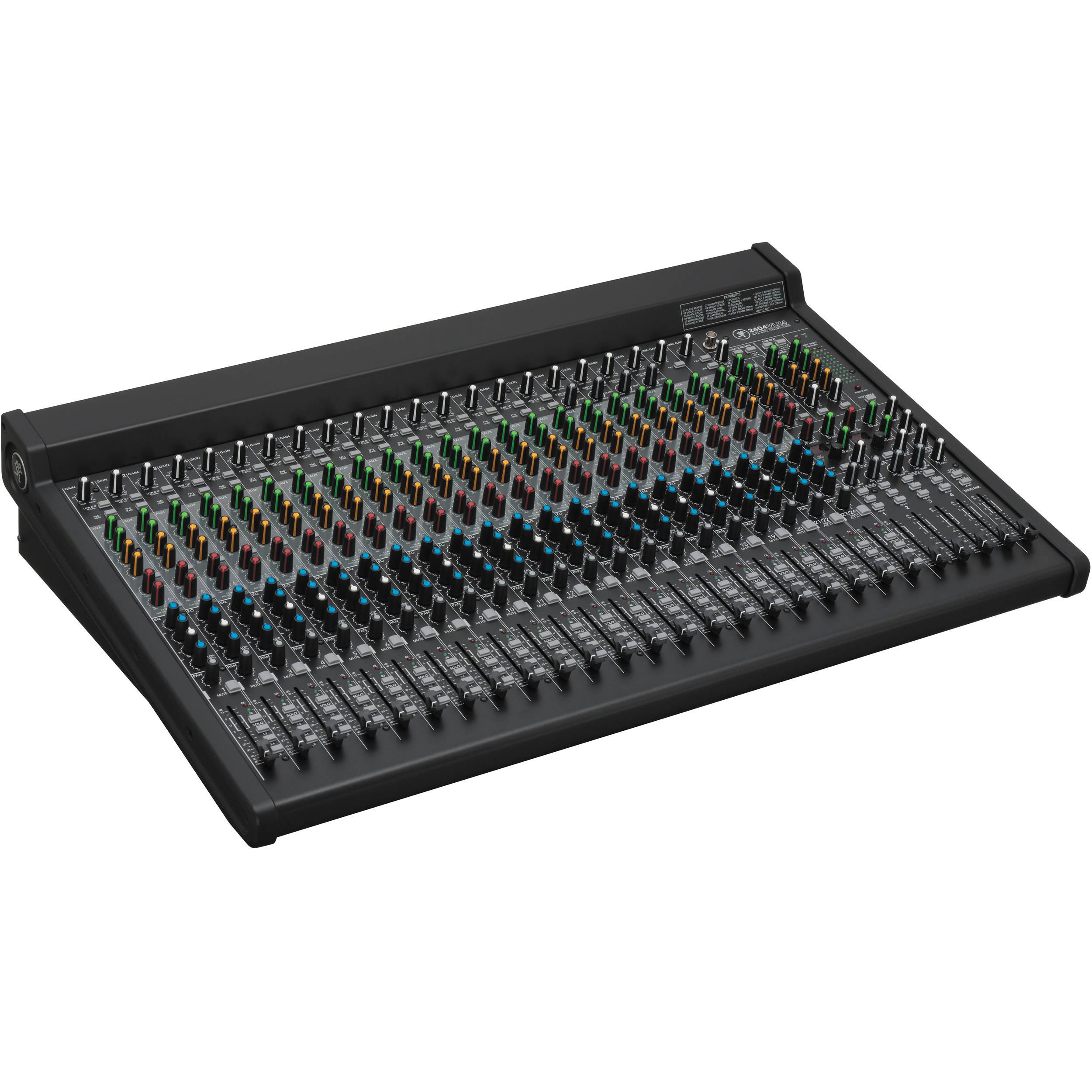 24-channel 4-bus FX MixerUSBAn
