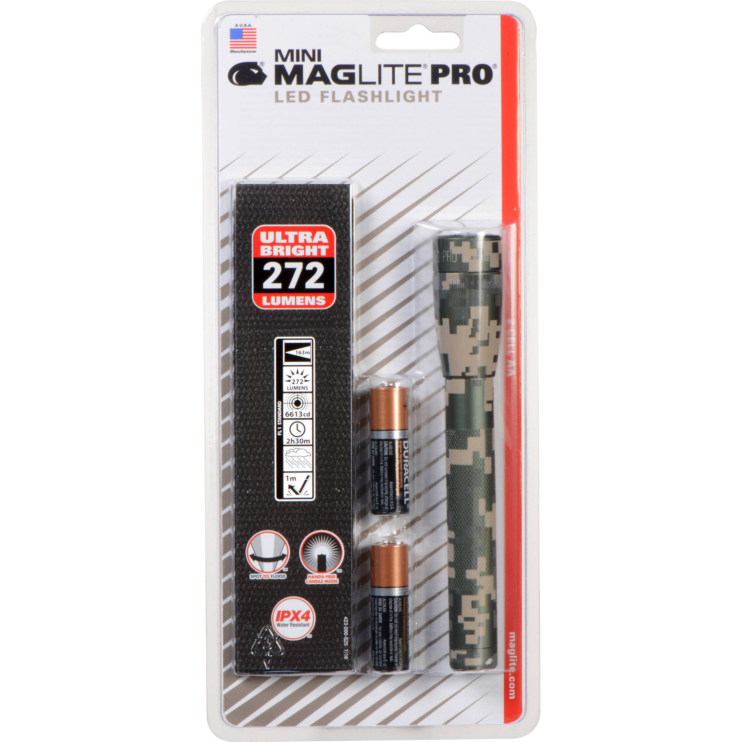 Maglite Mini Maglite Pro 2aa Led Flashlight With Holster