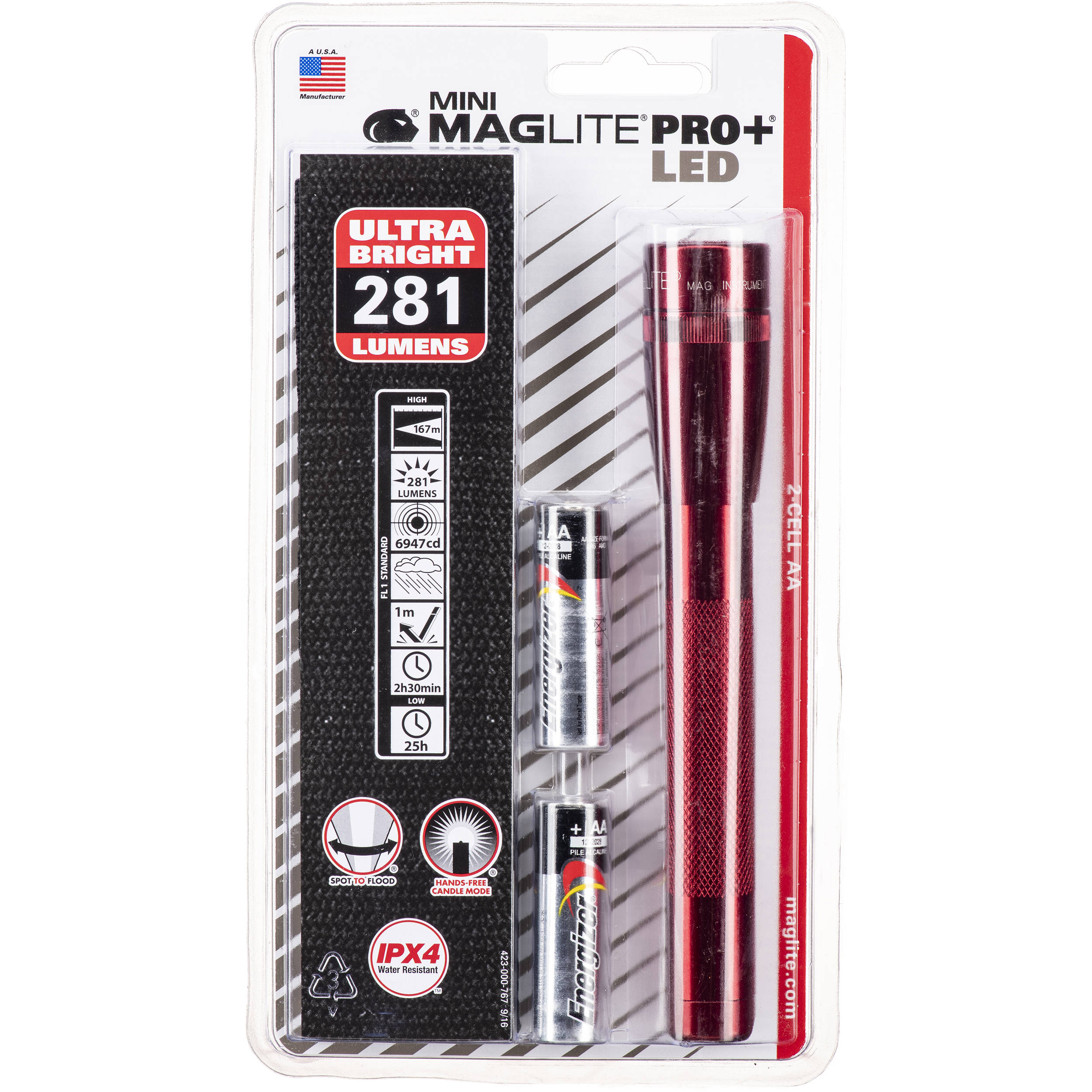 maglite mini maglite pro 2aa led flashlight sp p03h b h photo. Black Bedroom Furniture Sets. Home Design Ideas