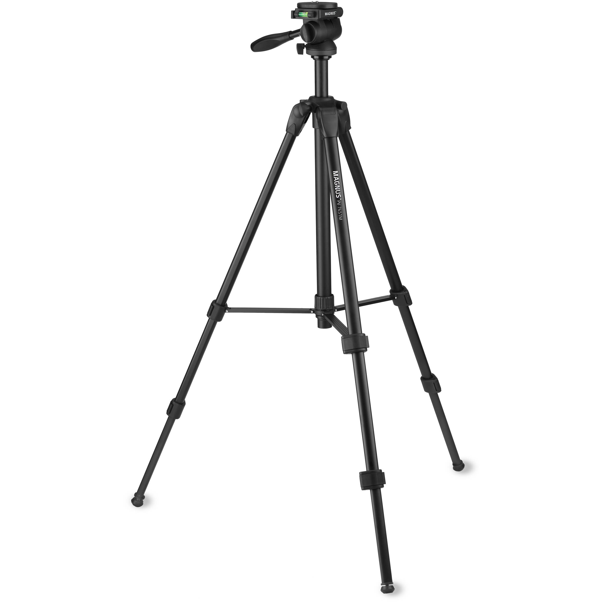 Magnus PV-7451M Tripod/Monopod with 3-Way Pan/Tilt Head PV ...