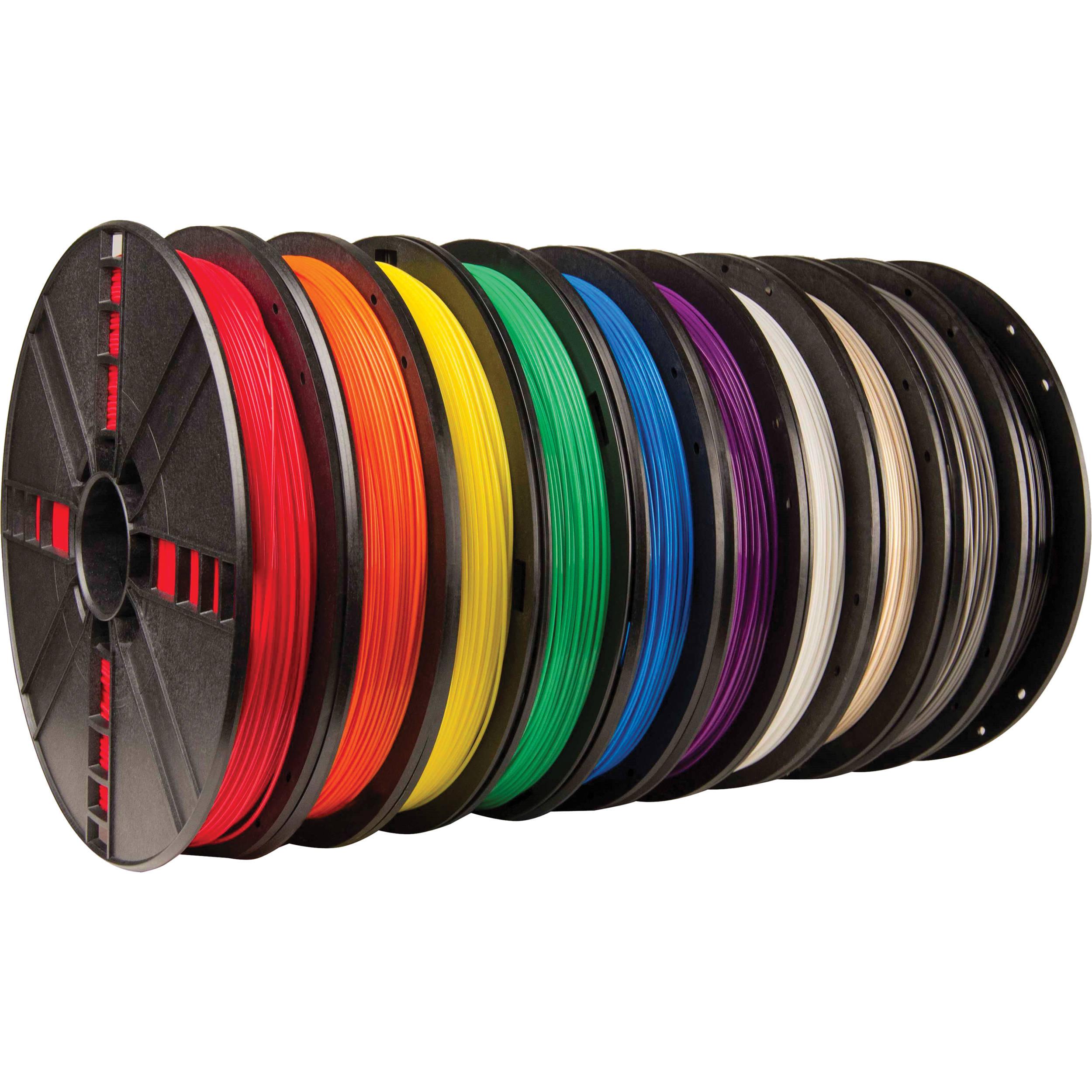 makerbot pla filament large spool 10 pack mp06572 b h. Black Bedroom Furniture Sets. Home Design Ideas