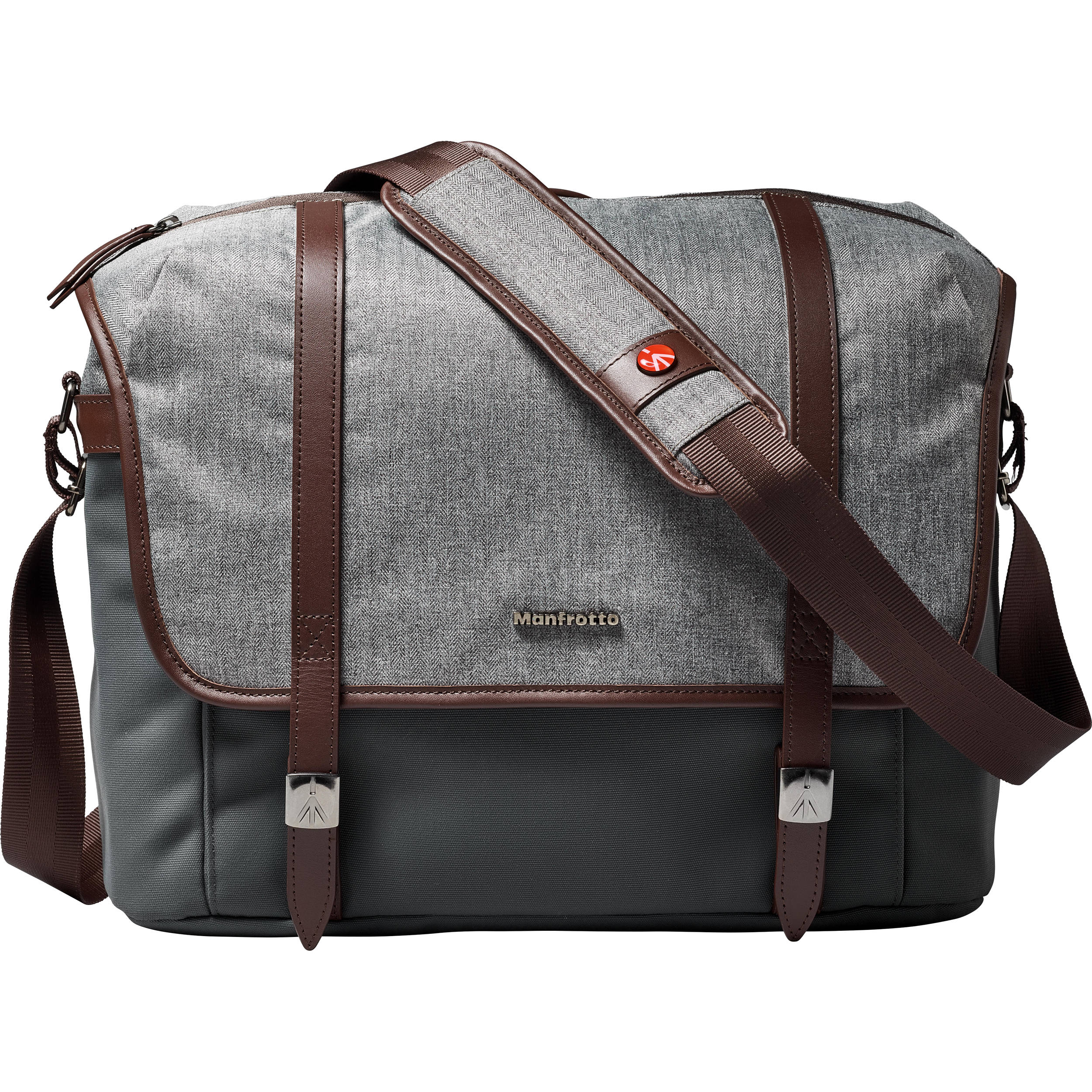 Manfrotto Windsor Camera Messenger Bag (Medium, Gray) MB