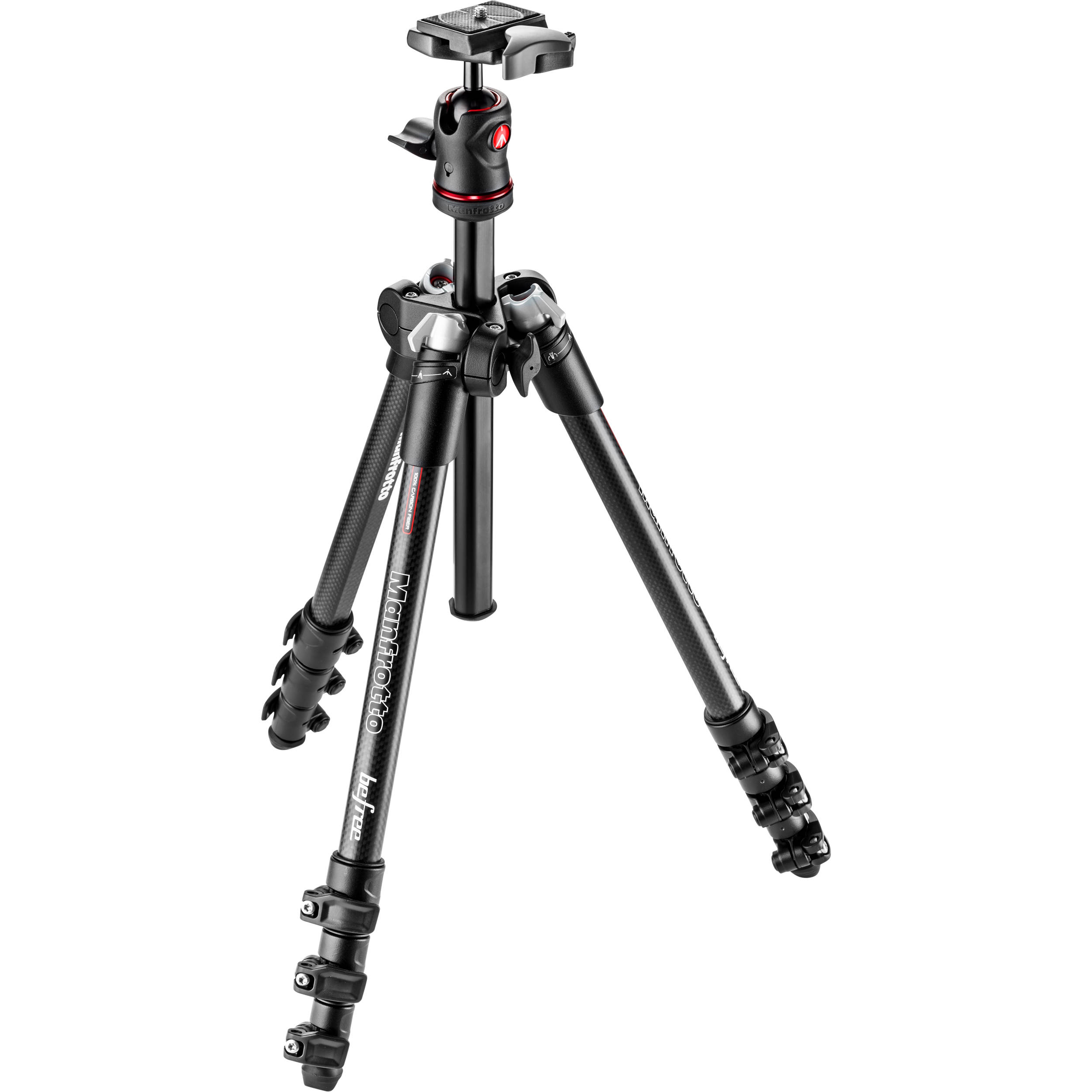 Manfrotto BeFree Compact Travel Carbon Fiber Tripod ...
