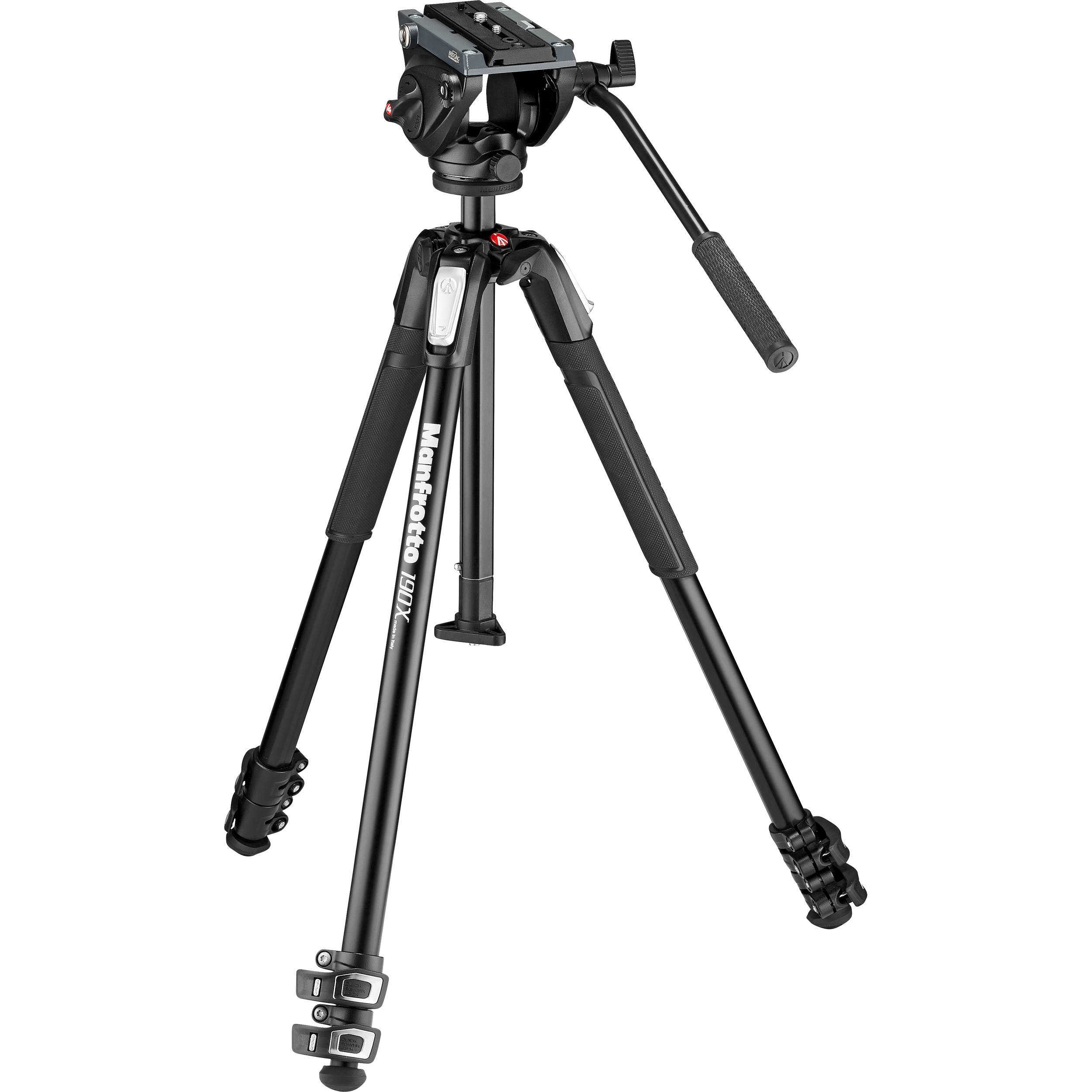 Manfrotto 190X Aluminum 3-Section Tripod MT190X3