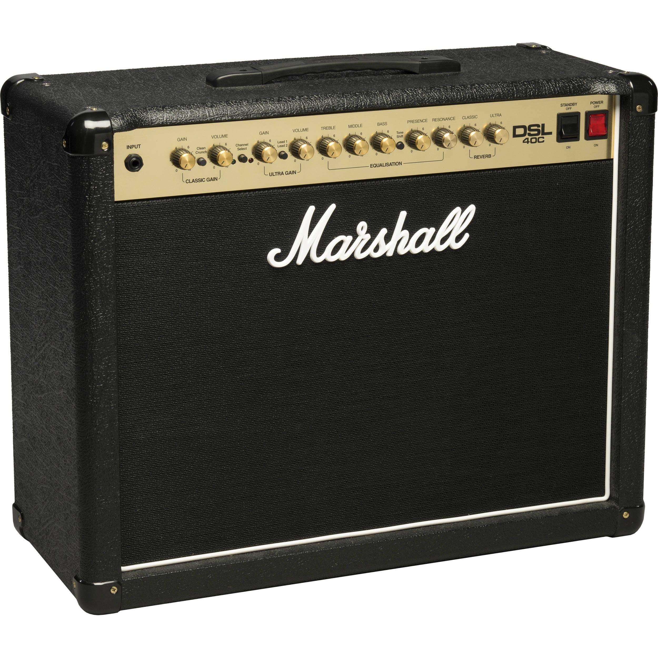marshall amplification dsl40c 2 channel valve combo dsl40c b h. Black Bedroom Furniture Sets. Home Design Ideas