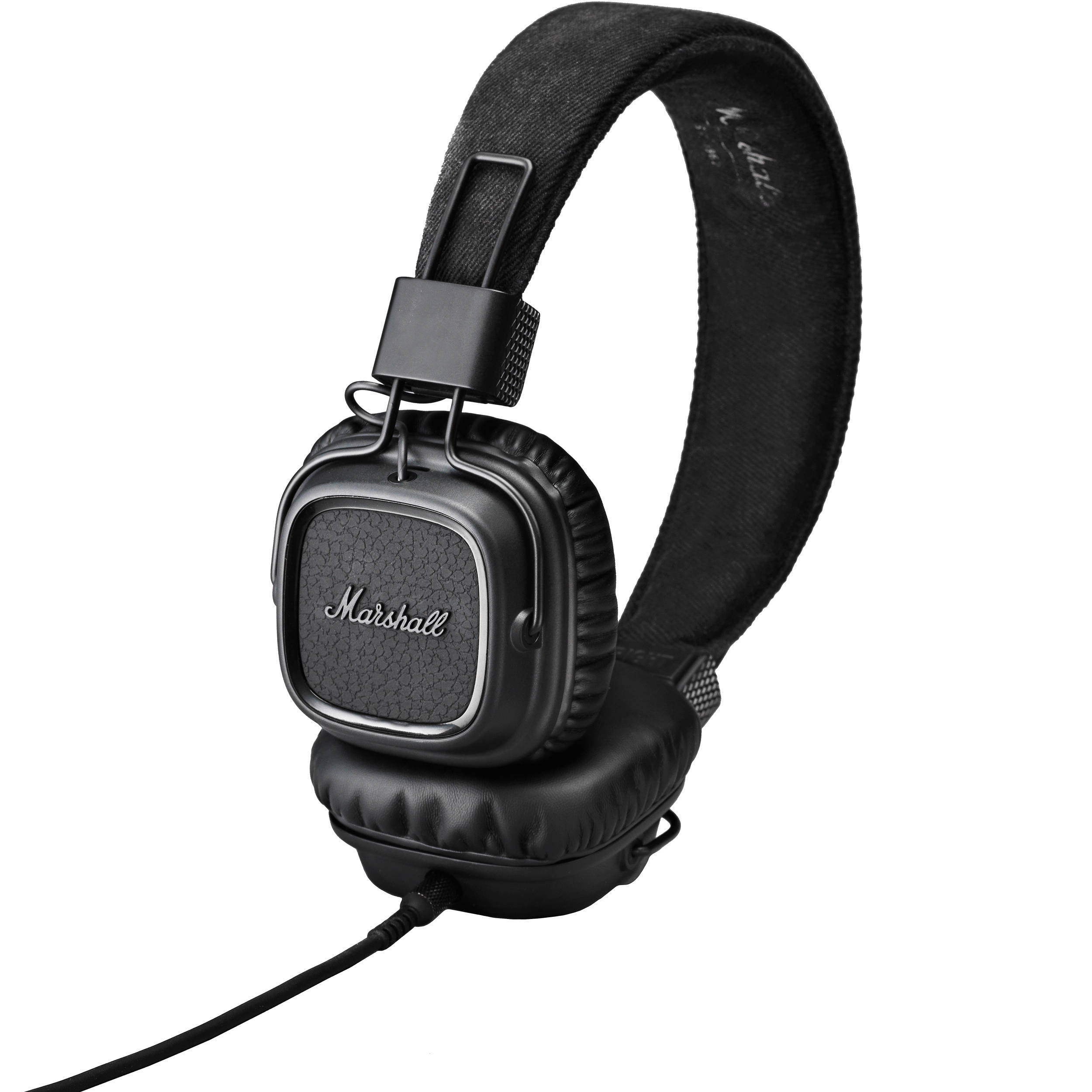 marshall audio major ii headphones pitch black 4091114 b h. Black Bedroom Furniture Sets. Home Design Ideas