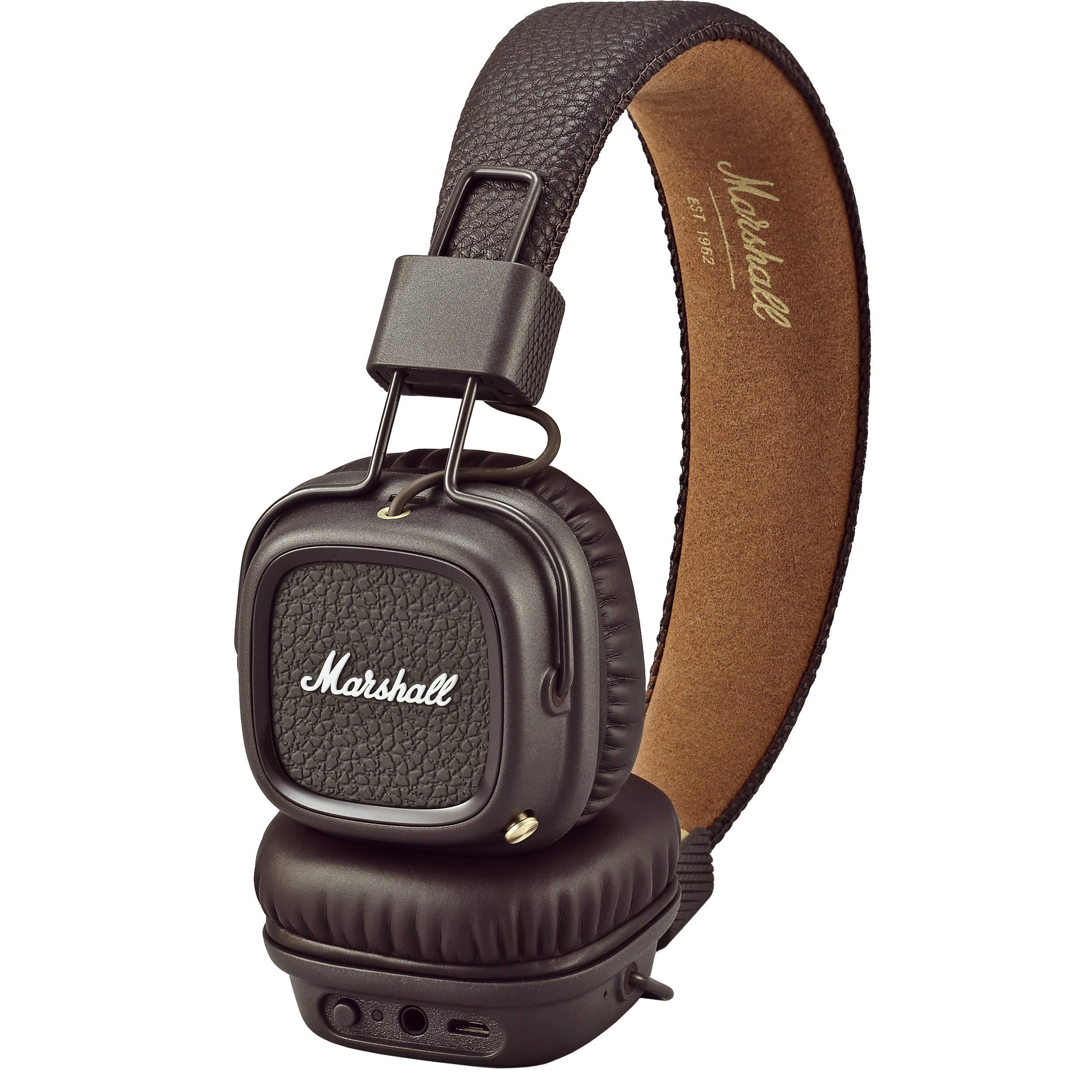 ad1b0244256 Used Marshall Major II Bluetooth Headphones (Brown) 4091793 B&H