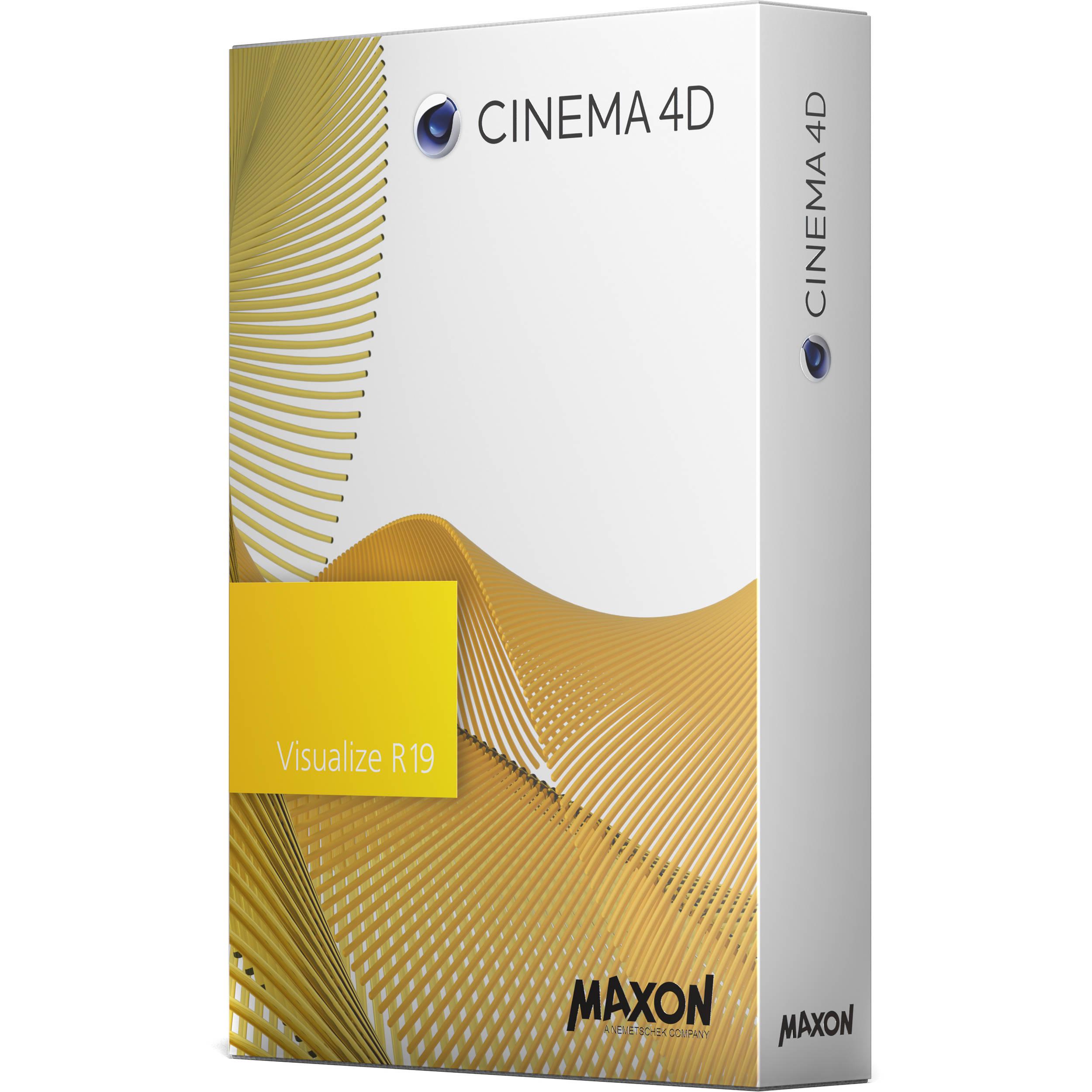 maxon cinema 4d visualize r19 c4dviz n 16pup19 30off b h photo. Black Bedroom Furniture Sets. Home Design Ideas
