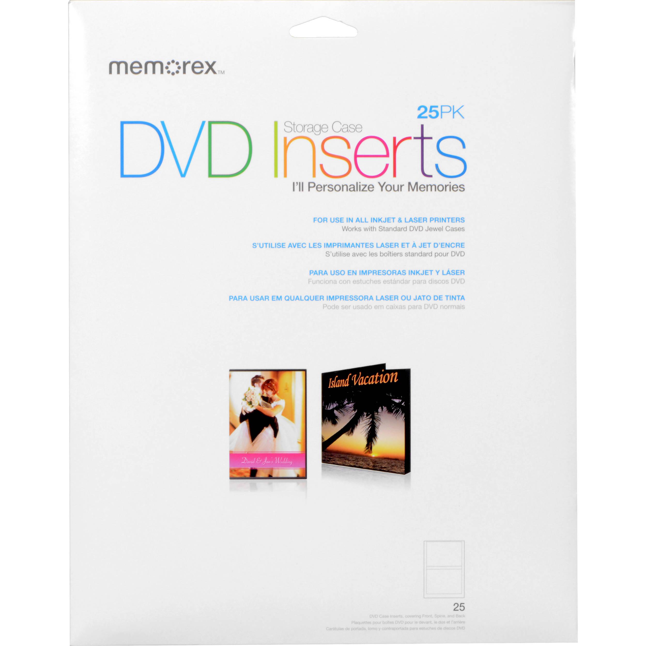 Memorex DVD Storage Case Inserts (25)  sc 1 st  Bu0026H & Memorex DVD Storage Case Inserts (25) 00713 Bu0026H Photo Video