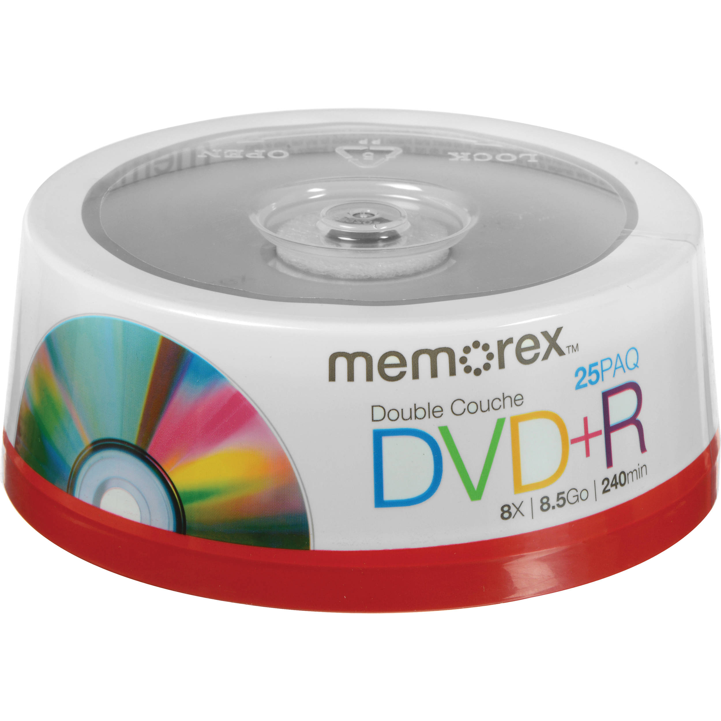 memorex dvd r double layer discs 05712 b h photo video. Black Bedroom Furniture Sets. Home Design Ideas