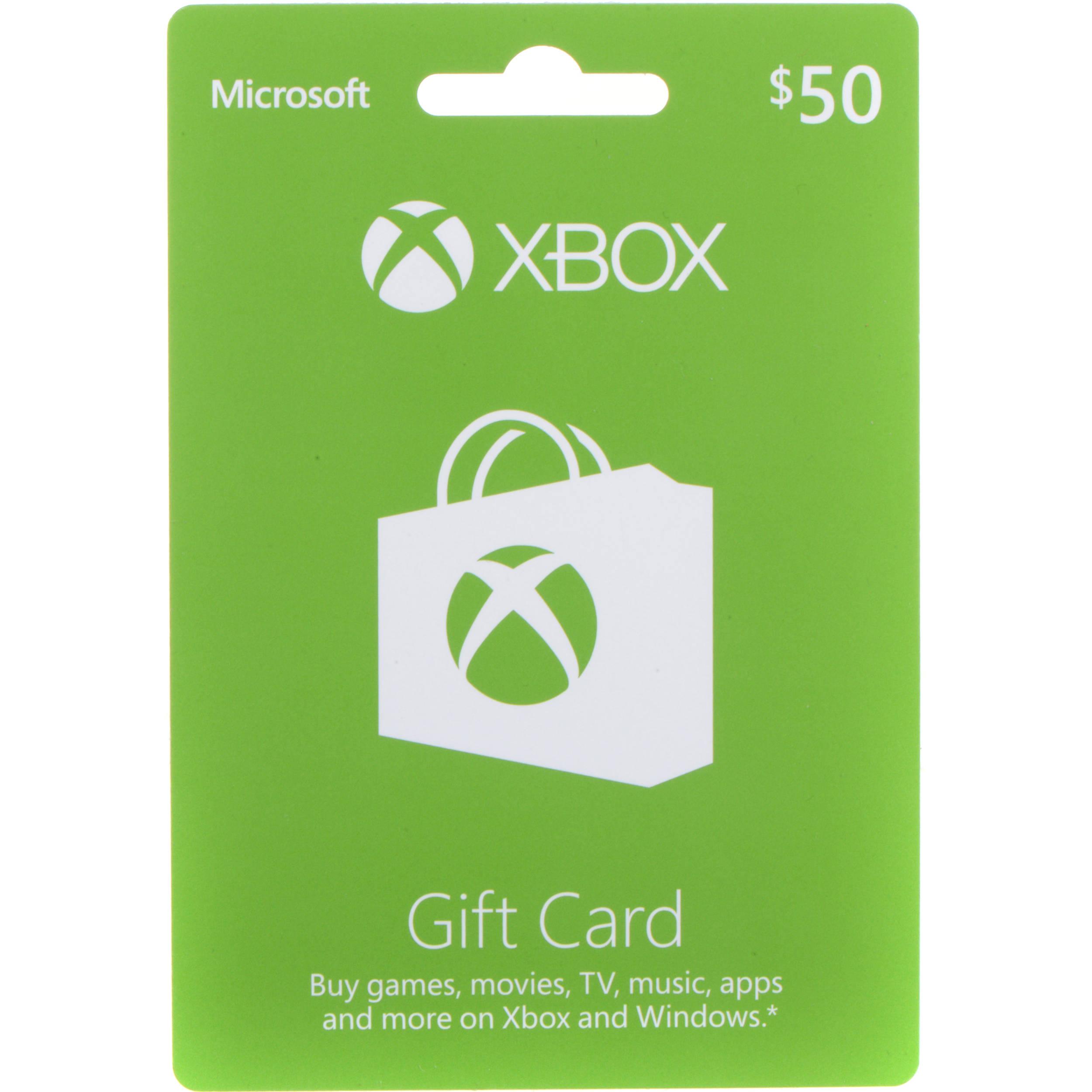 Microsoft Xbox Live $50 Gift Card 33630 B&H Photo Video