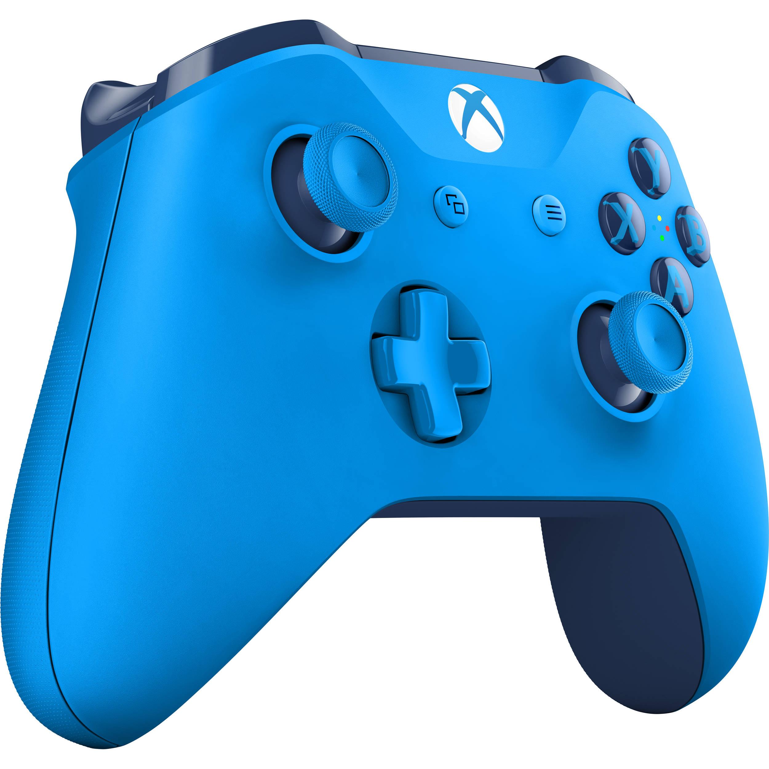 Microsoft Xbox One Wireless Controller (Blue) WL3-00018 B&H