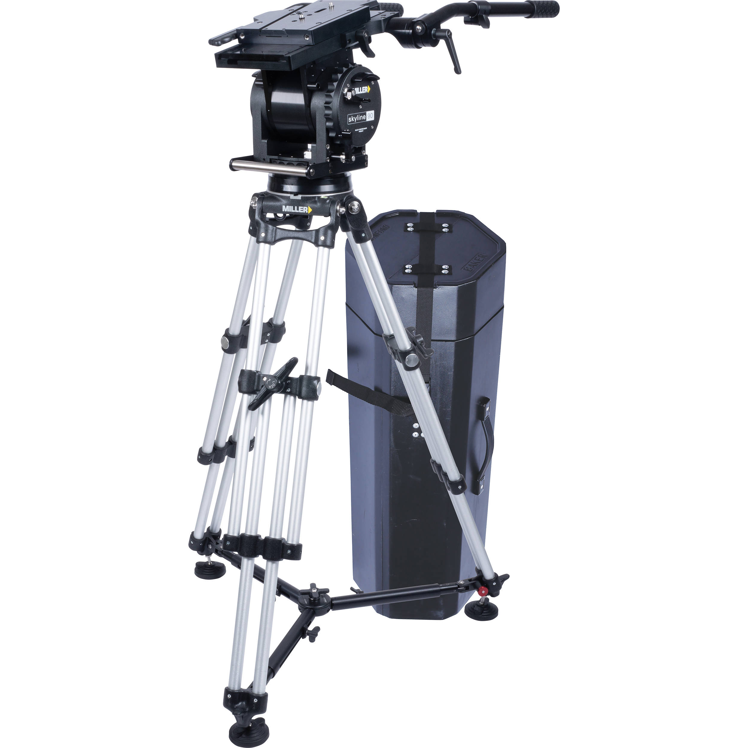 Miller Skyline 90 HD 1 Stage Alloy Tripod System With Off Ground Spreader